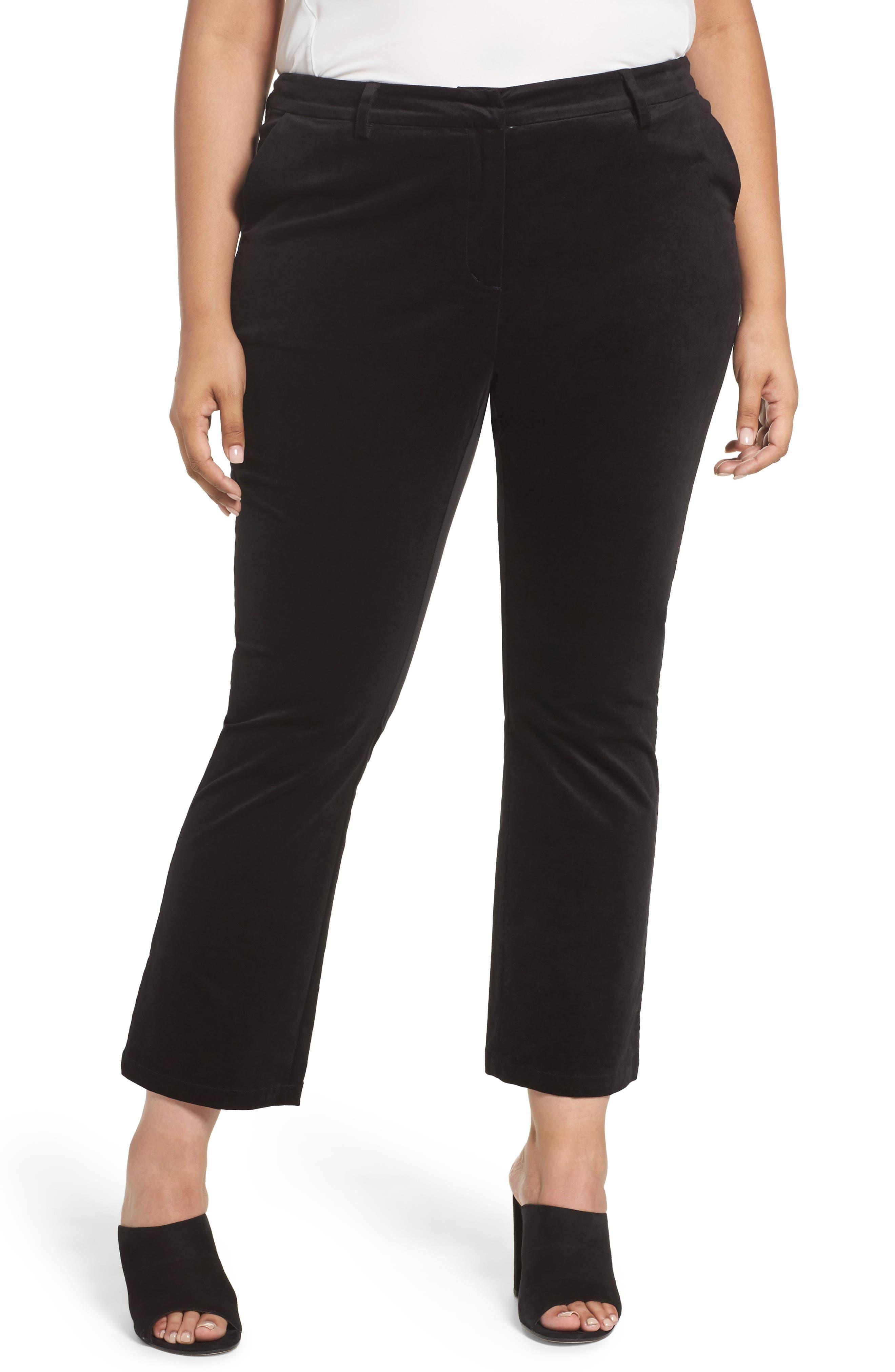 Sejour Velvet Ankle Pants (Plus Size)