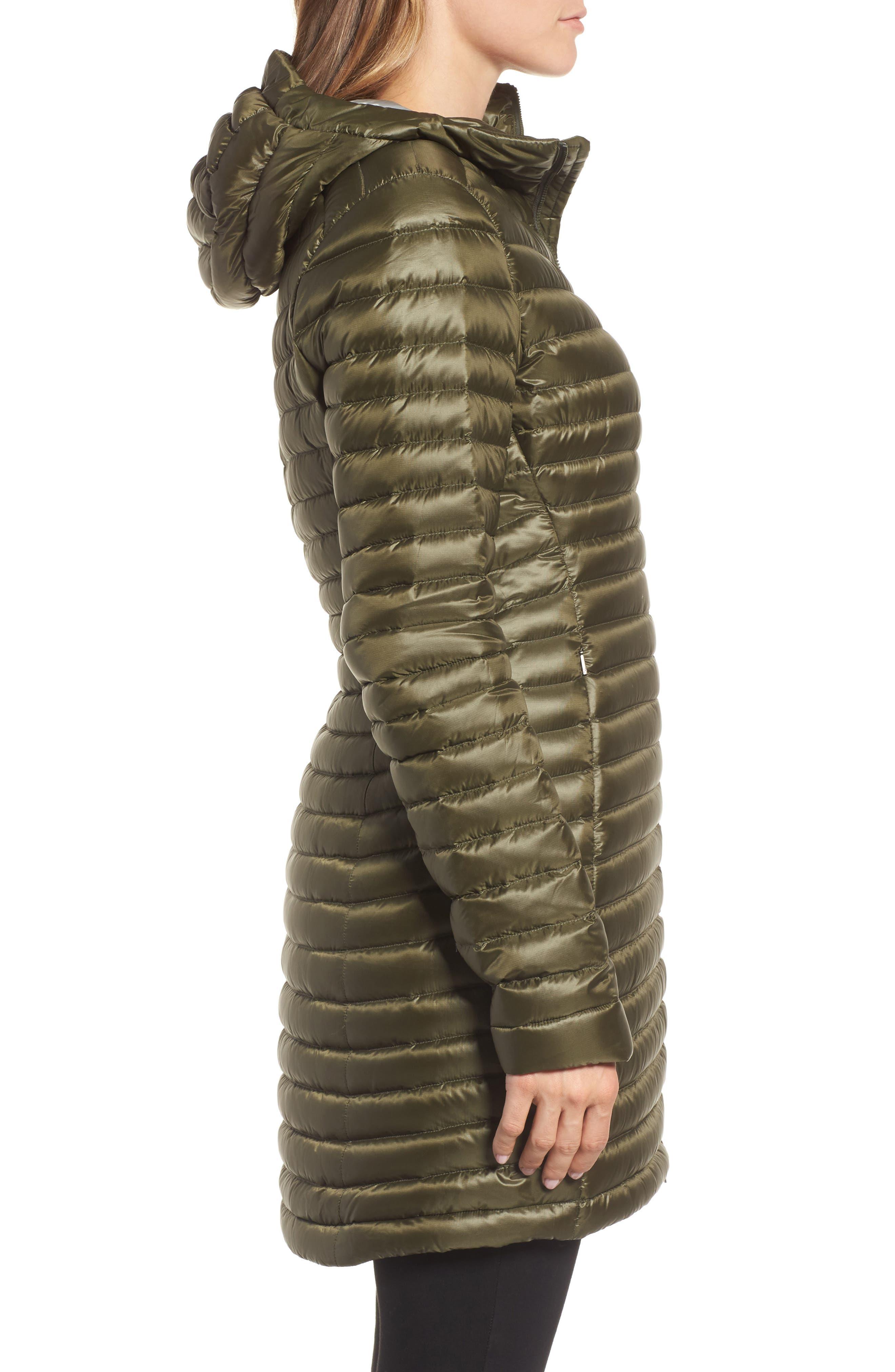 'Nuri' Hooded Water Resistant Down Coat,                             Alternate thumbnail 3, color,                             Banyen