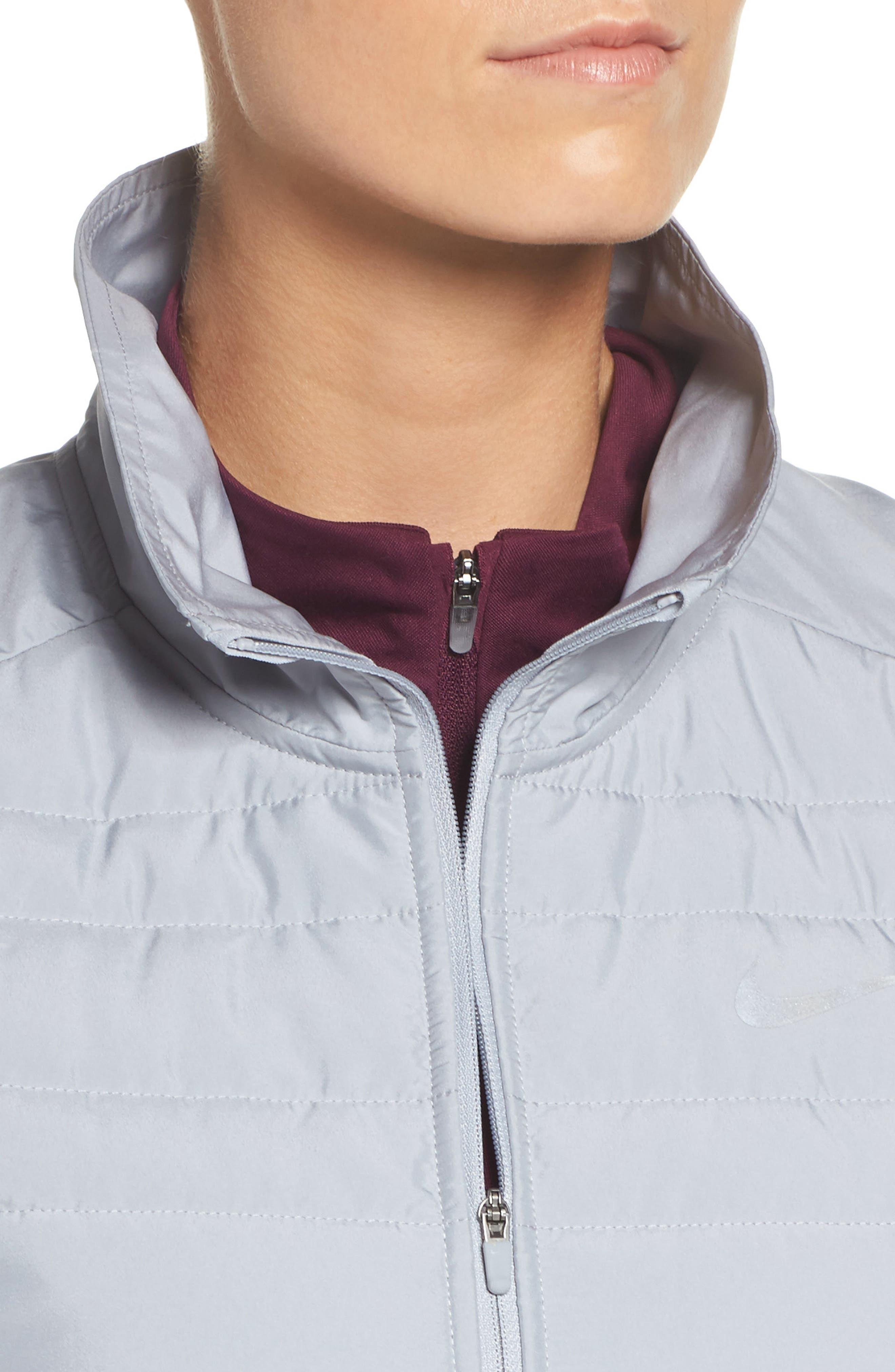 Essentials Running Vest,                             Alternate thumbnail 4, color,                             Wolf Grey/ Metallic Silver