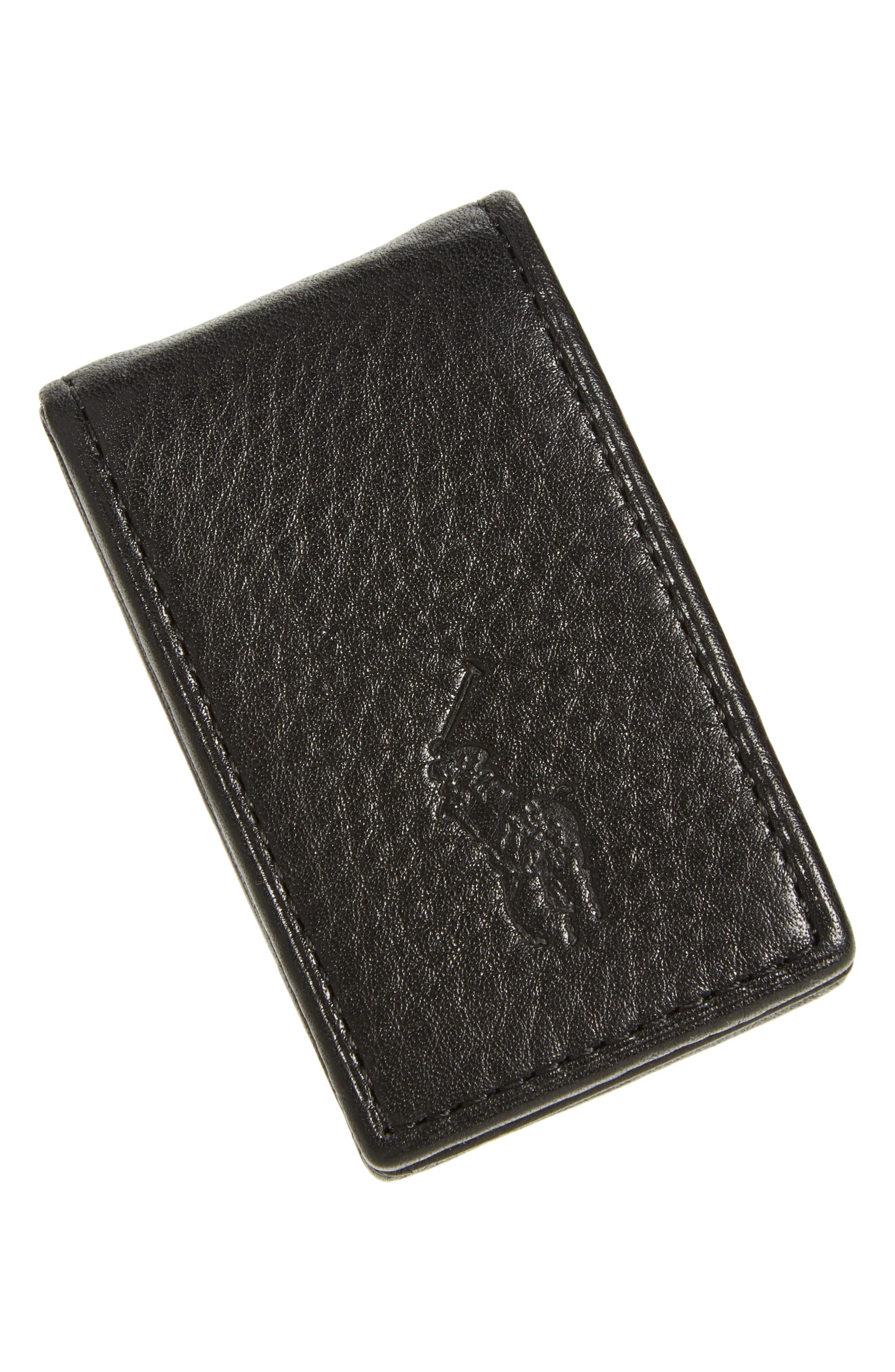 Polo Ralph Lauren Pebble Leather Money Clip