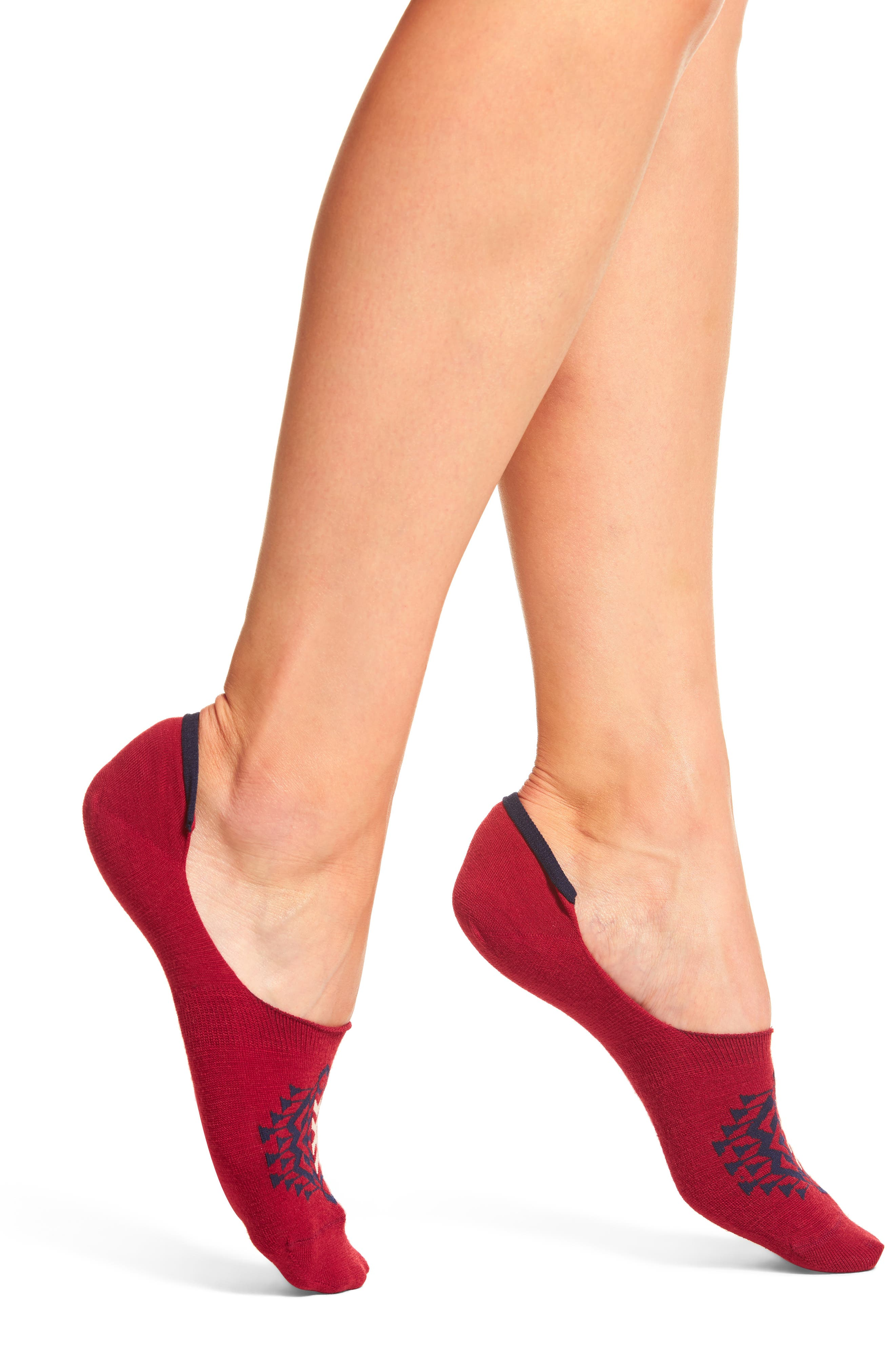 Tolovana No-Show Socks,                             Alternate thumbnail 2, color,                             Red