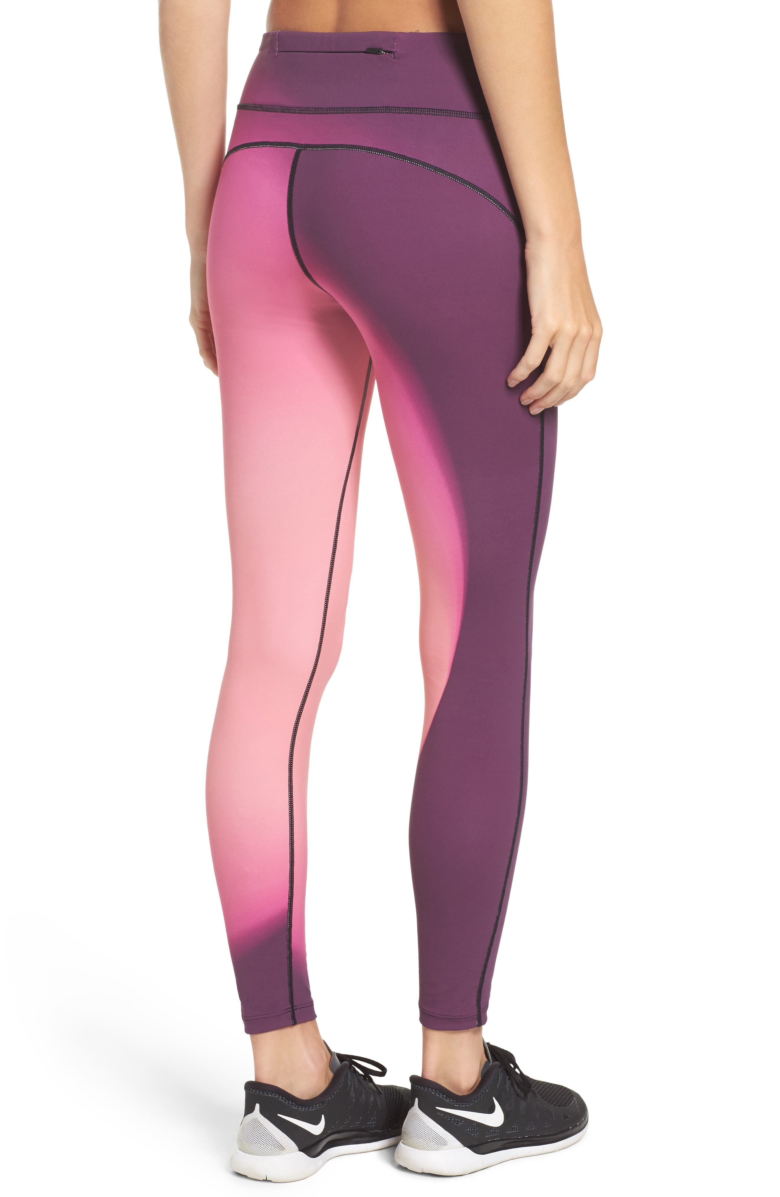 Power Epic Lux 2.0 Running Tights,                             Alternate thumbnail 2, color,                             Bordeaux