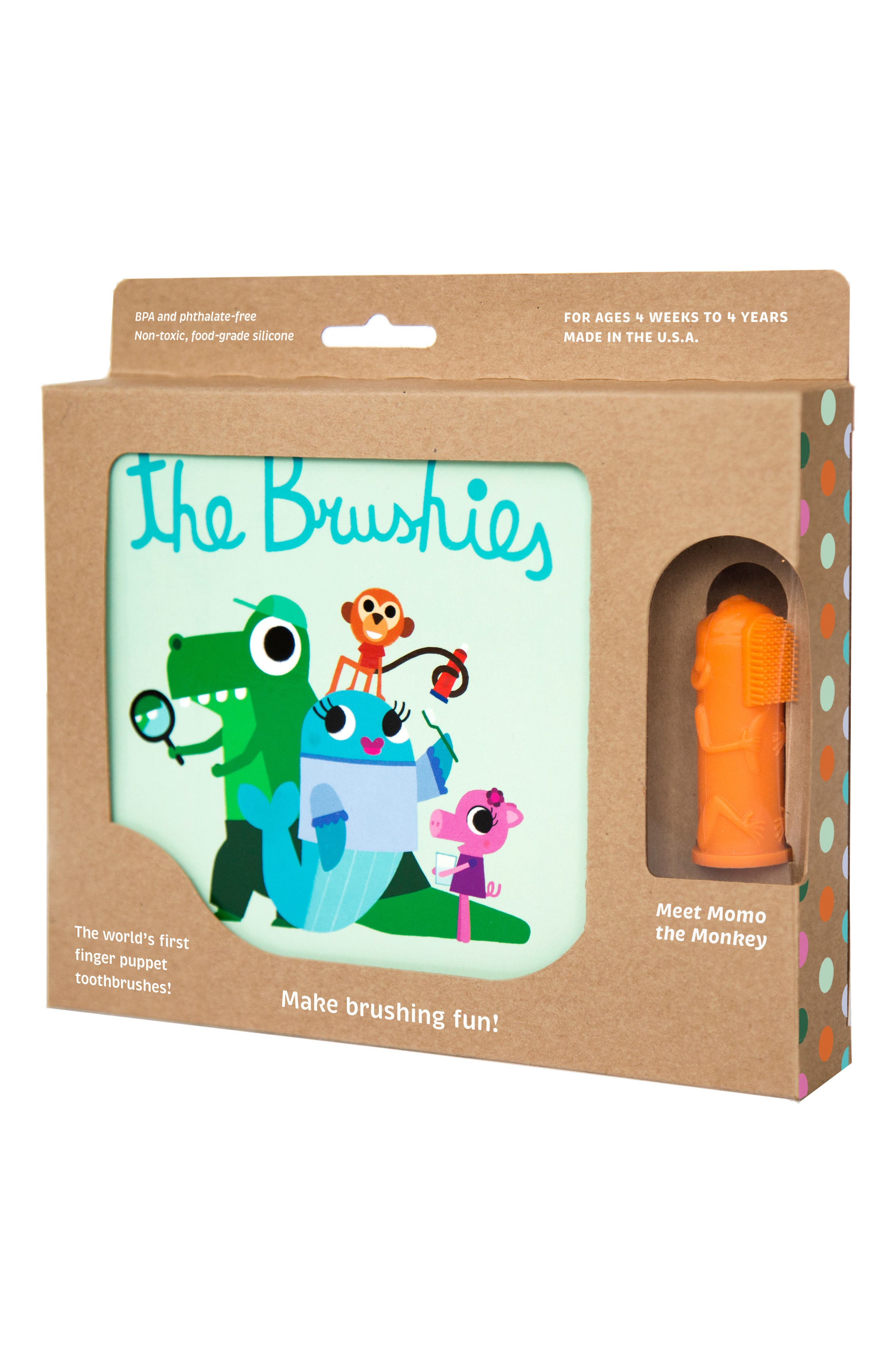 Brushies Book & Finger Puppet Toothbrush