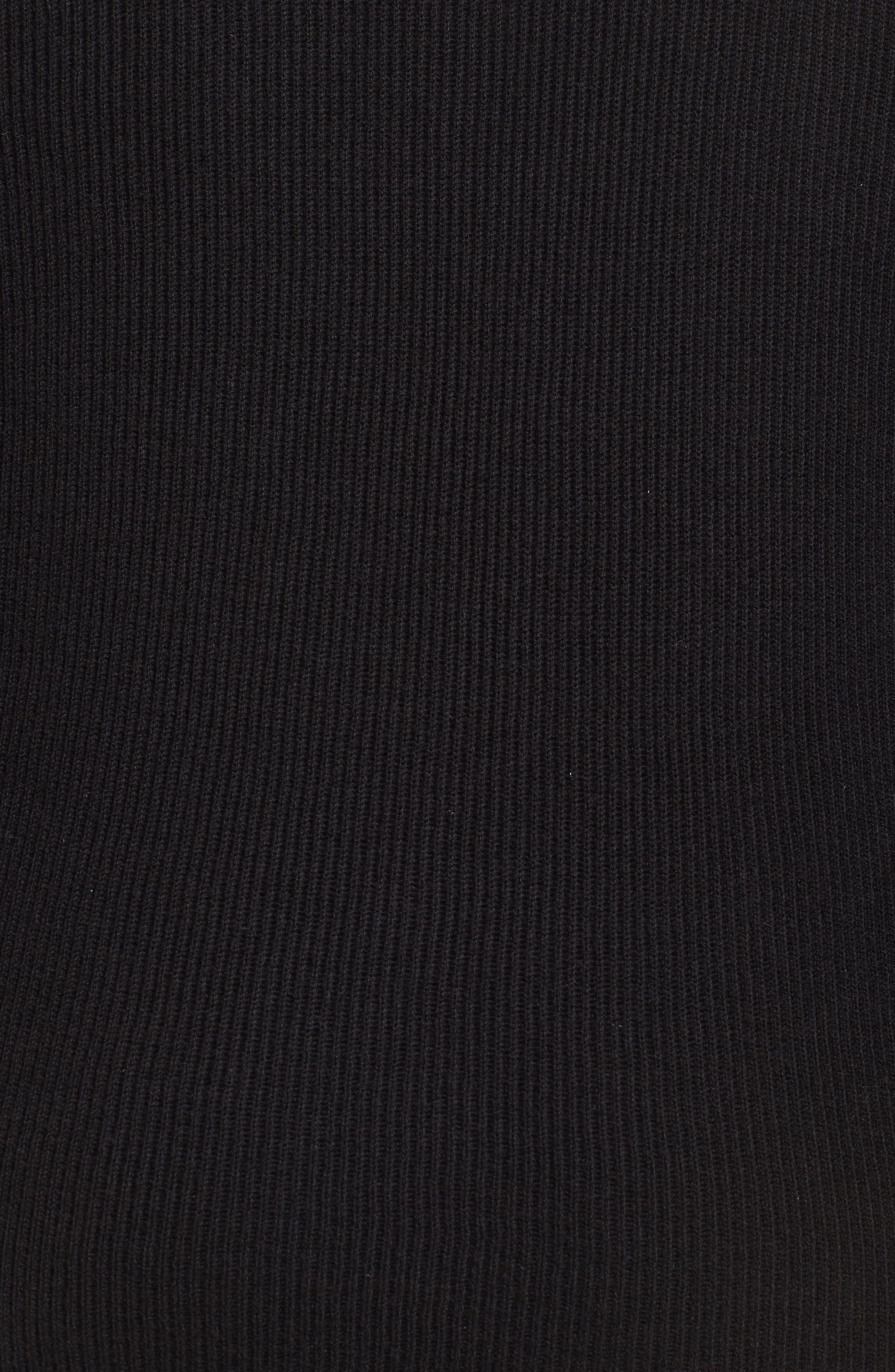 Detachable Faux Fur Trim Vest,                             Alternate thumbnail 5, color,                             Black