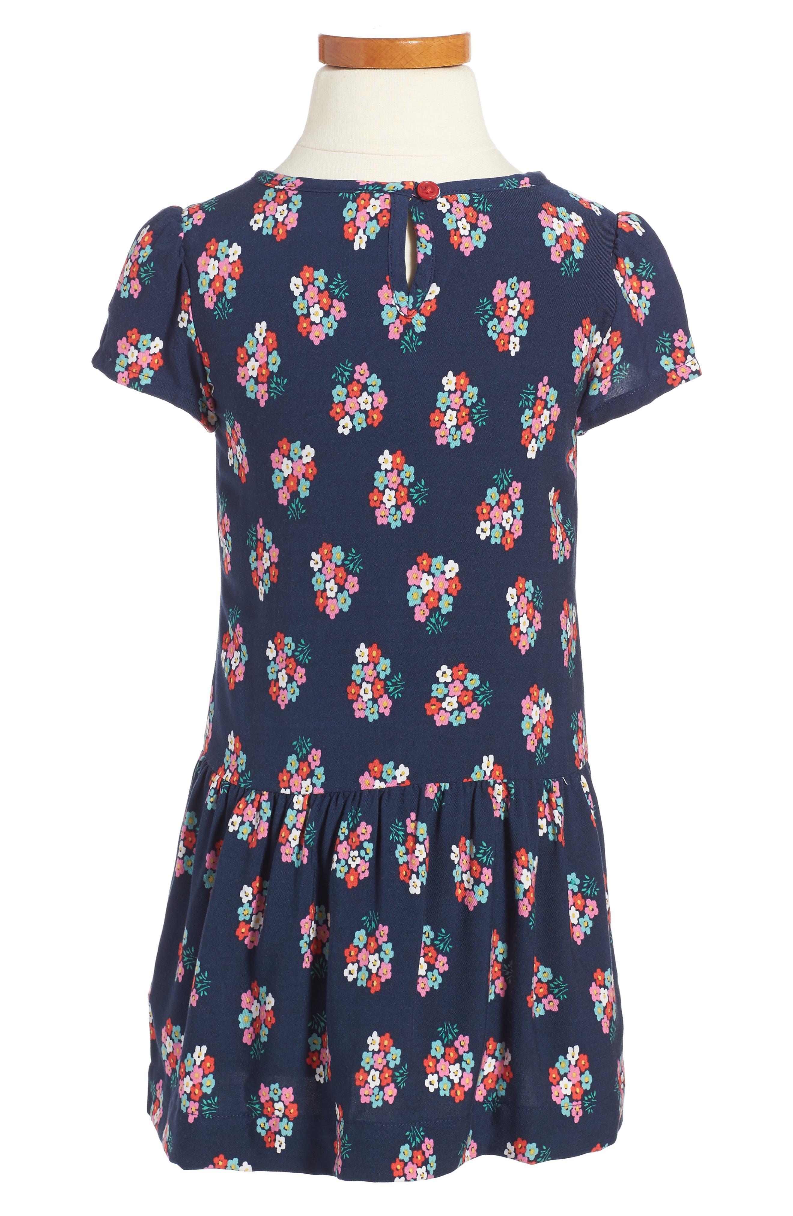 Alternate Image 2  - Mini Boden Print Tea Dress (Toddler Girls, Little Girls & Big Girls)