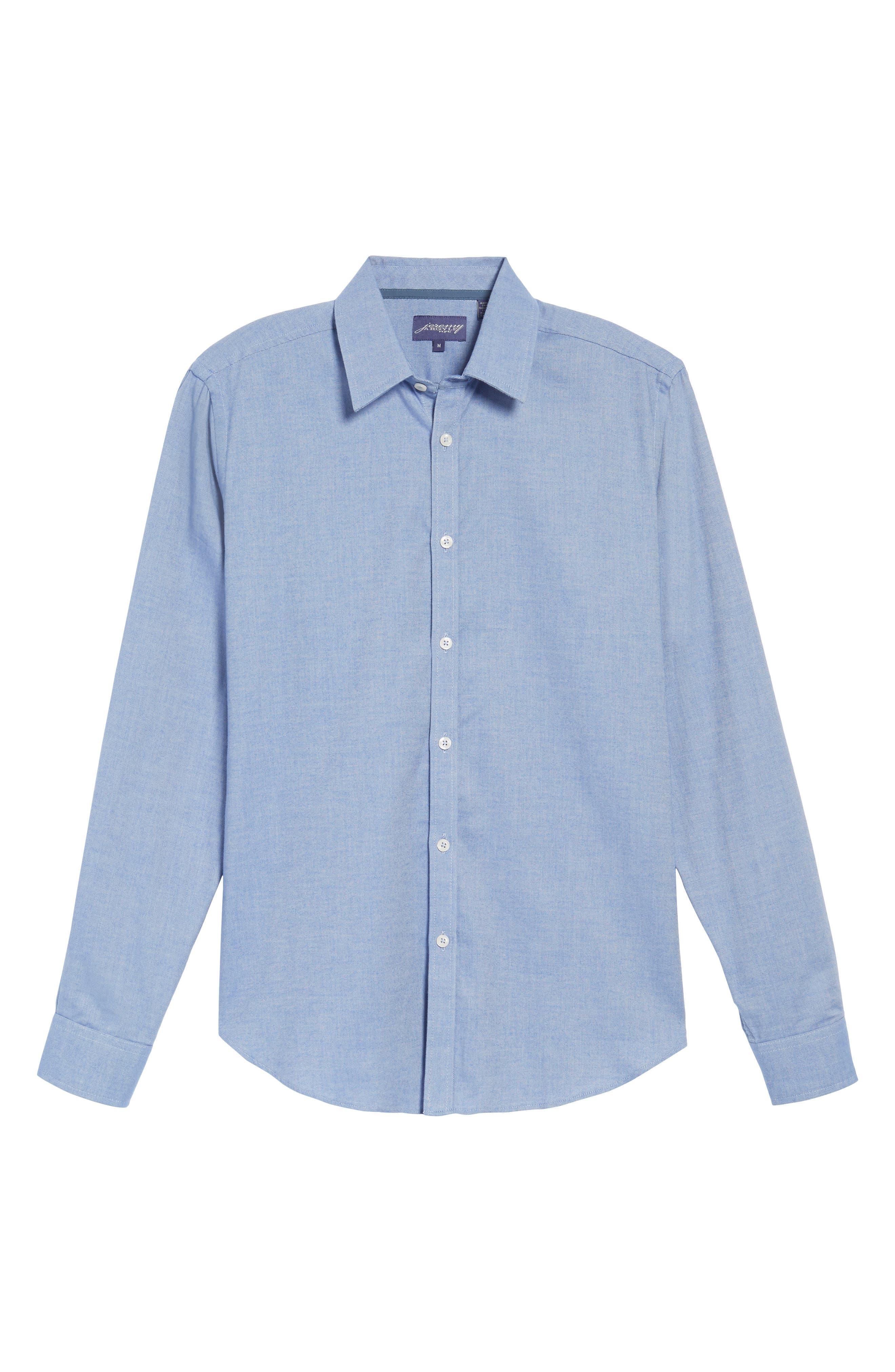 Alternate Image 6  - Jeremy Argyle Slim Fit Oxford Cloth Sport Shirt