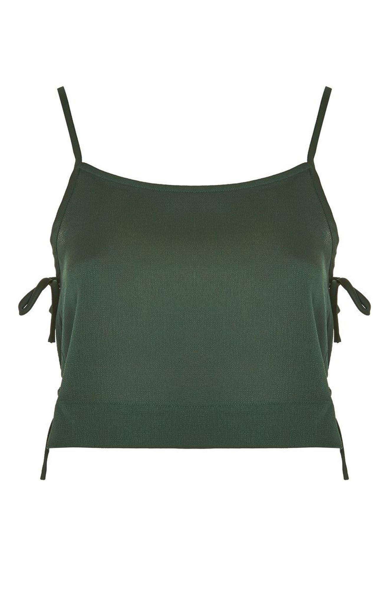 Alternate Image 5  - Topshop Side Tie Crop Camisole