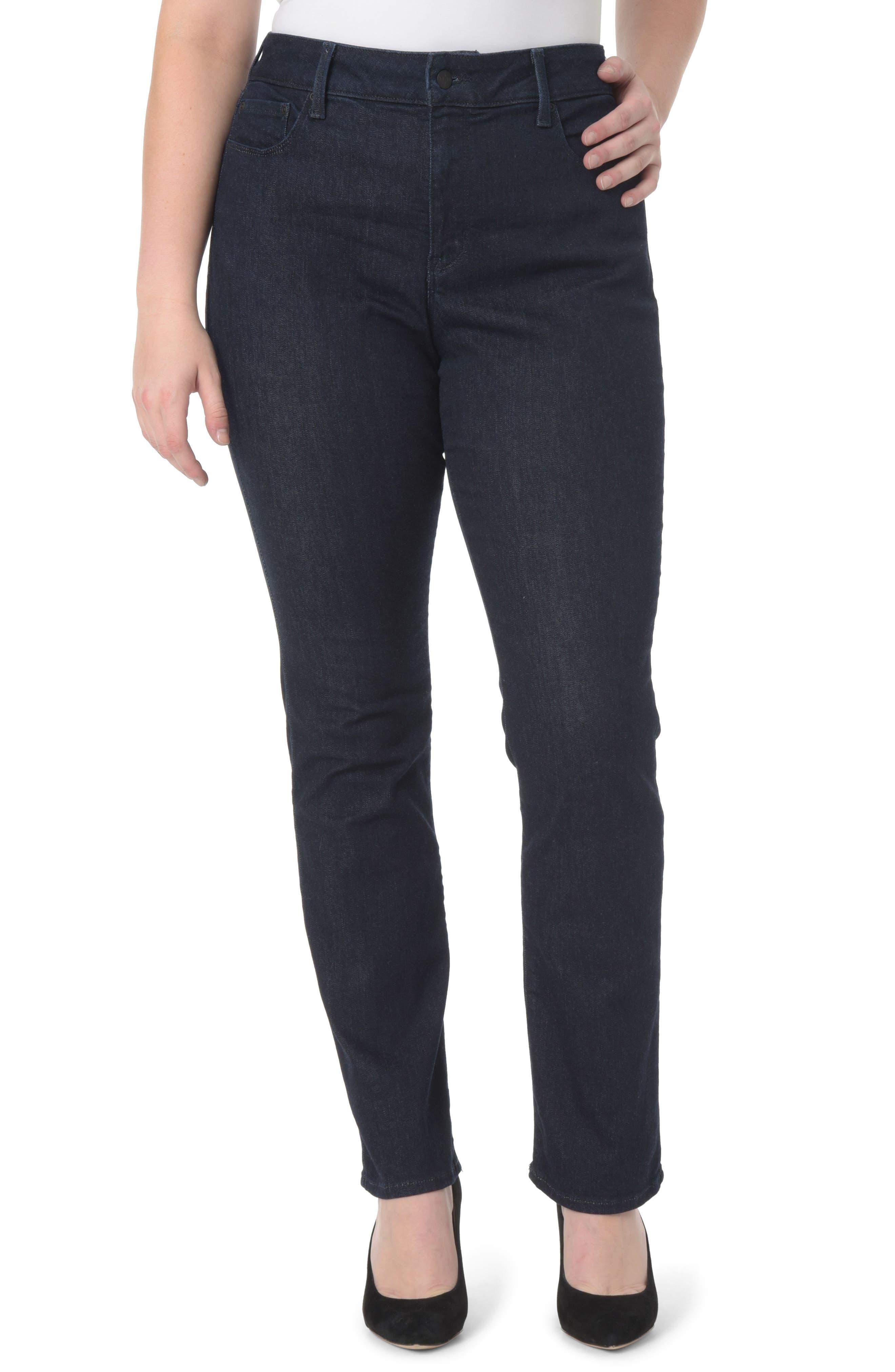 Alternate Image 1 Selected - NYDJ Marilyn Straight Leg Jeans (Plus Size)