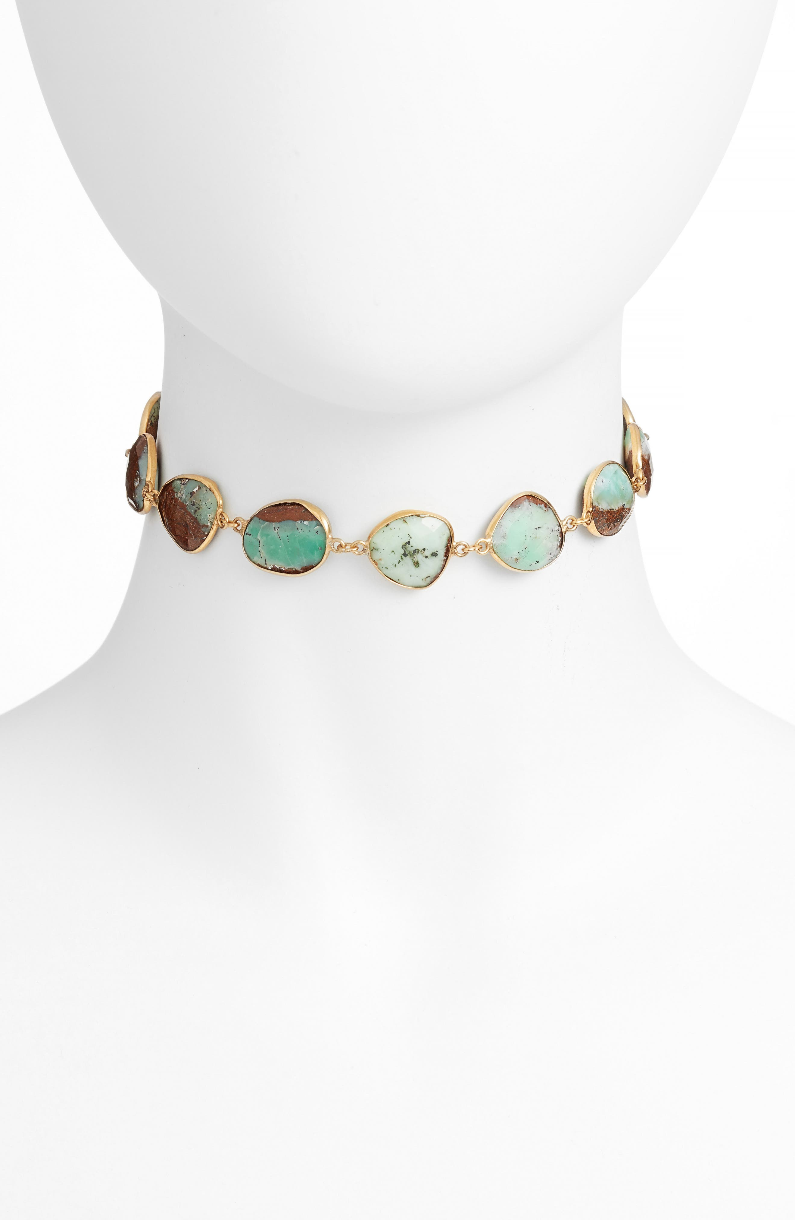 Sadie Collar Necklace,                         Main,                         color, Chrysophase