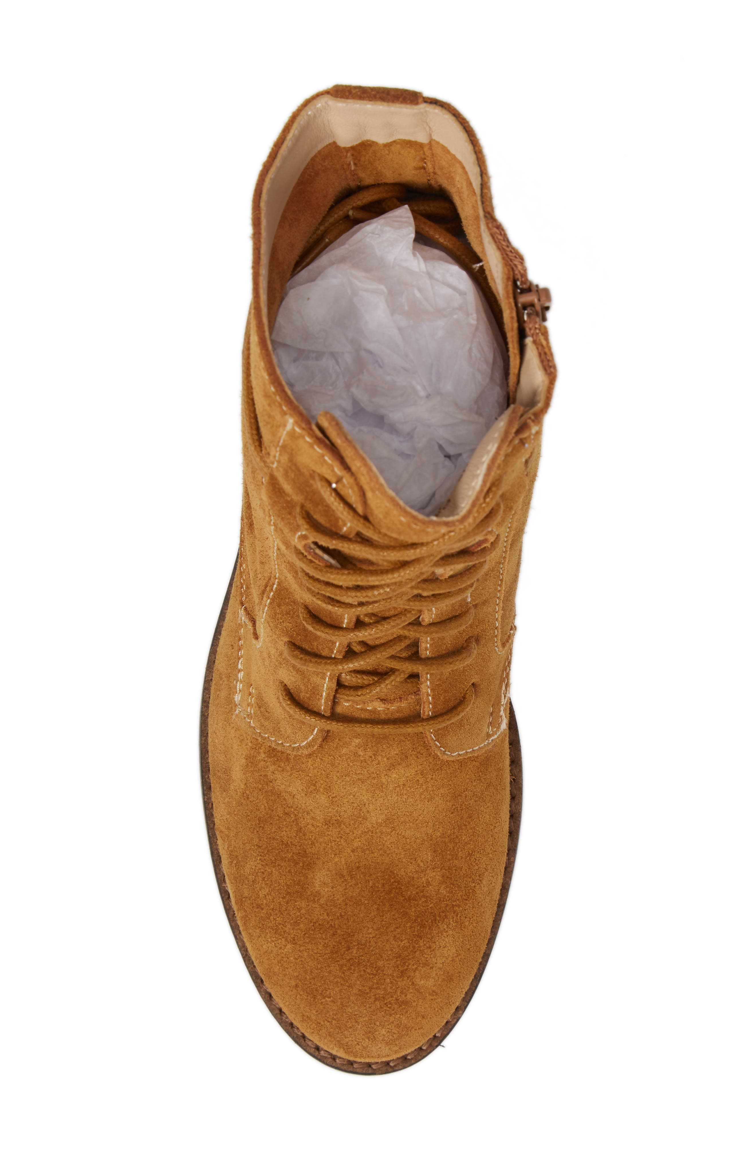 Bab Felise Boot,                             Alternate thumbnail 5, color,                             Camel Suede