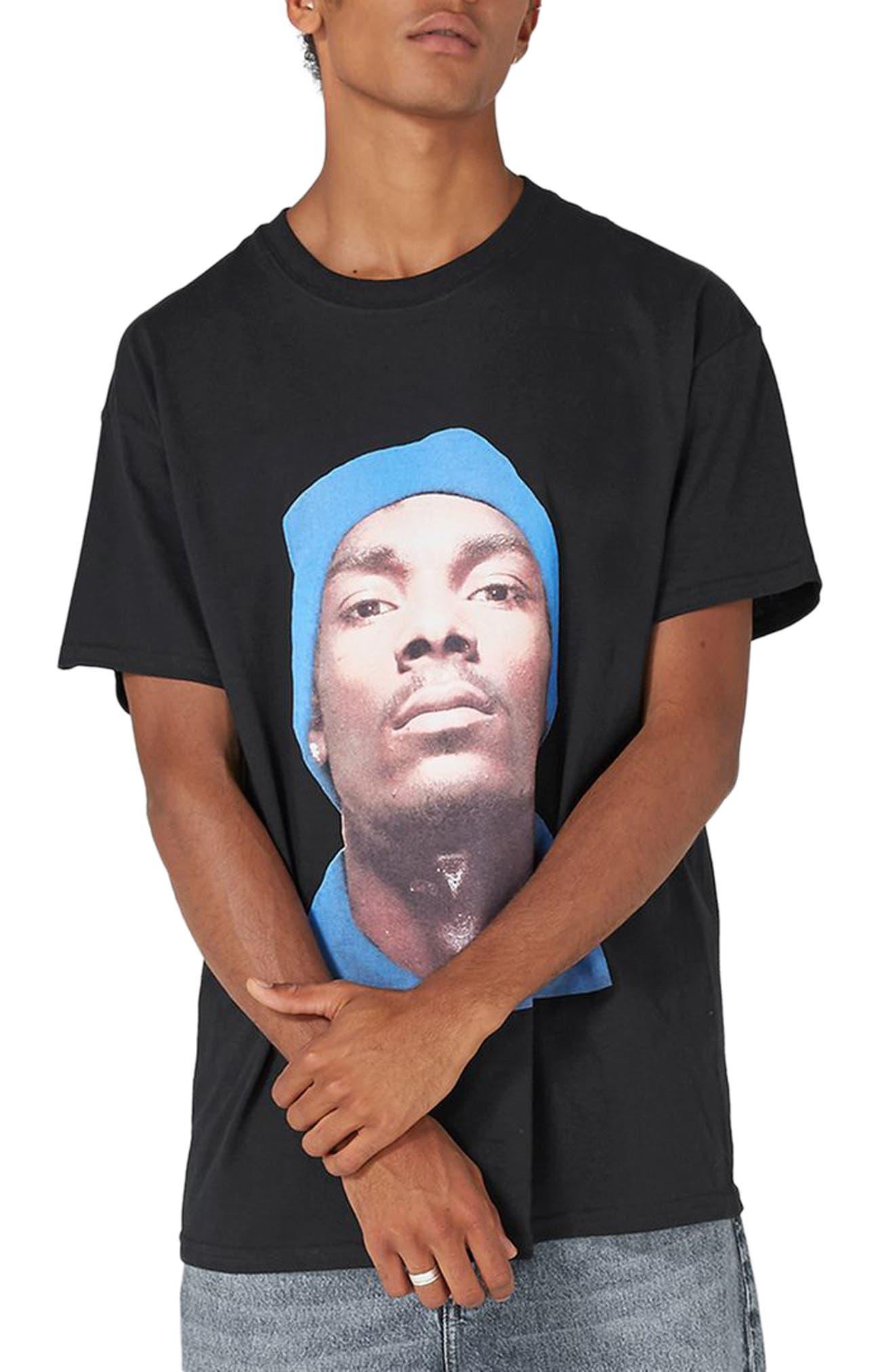 Snoop Dogg T-Shirt,                             Main thumbnail 1, color,                             Black Multi