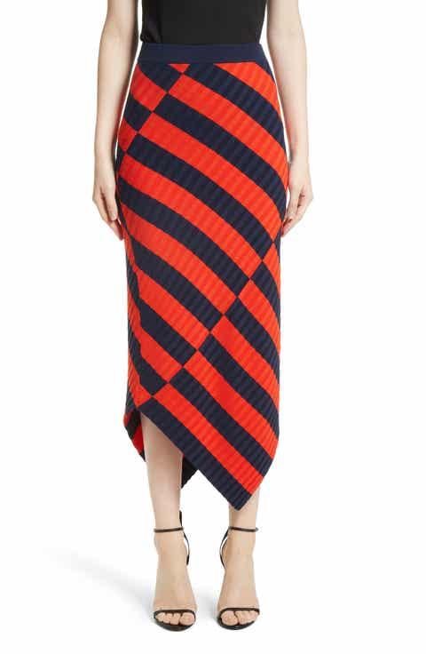 Altuzarra Asymmetrical Stripe Midi Skirt Compare Price