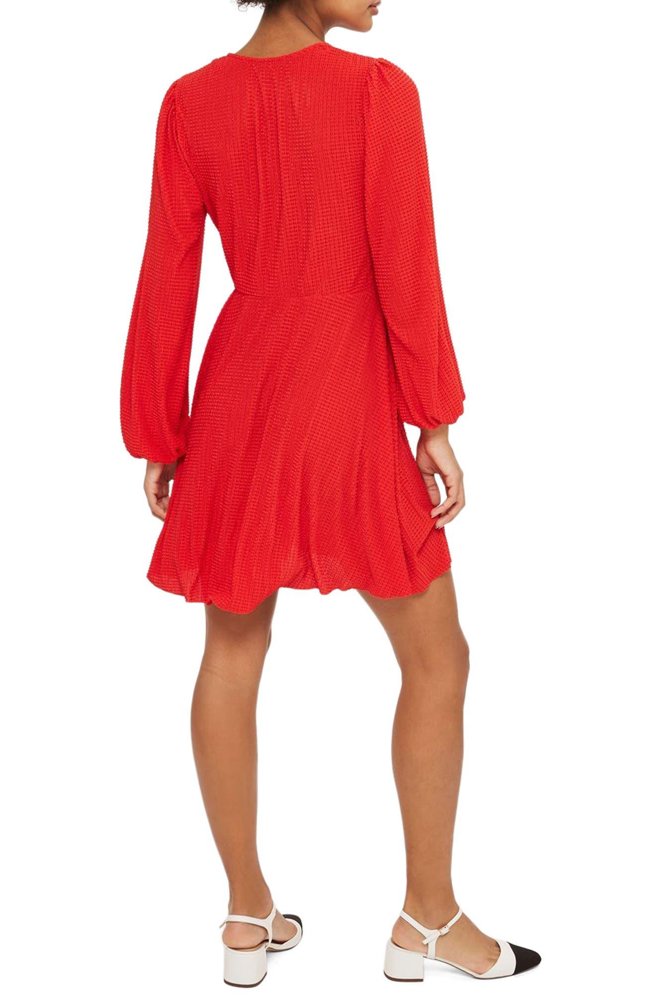 Alternate Image 2  - Topshop Plissé Wrap Dress