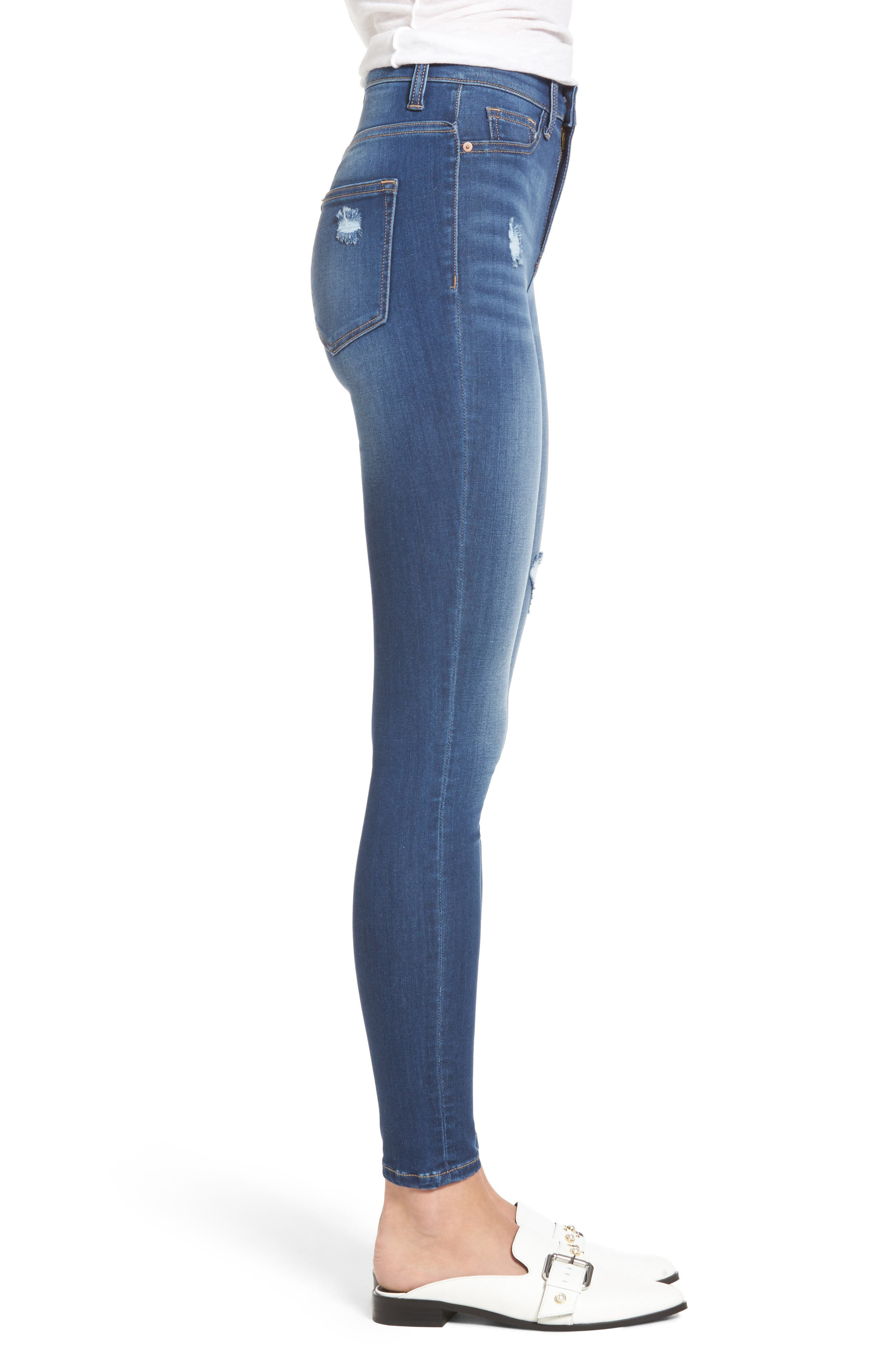 Alternate Image 3  - SP Black High Waist Skinny Jeans