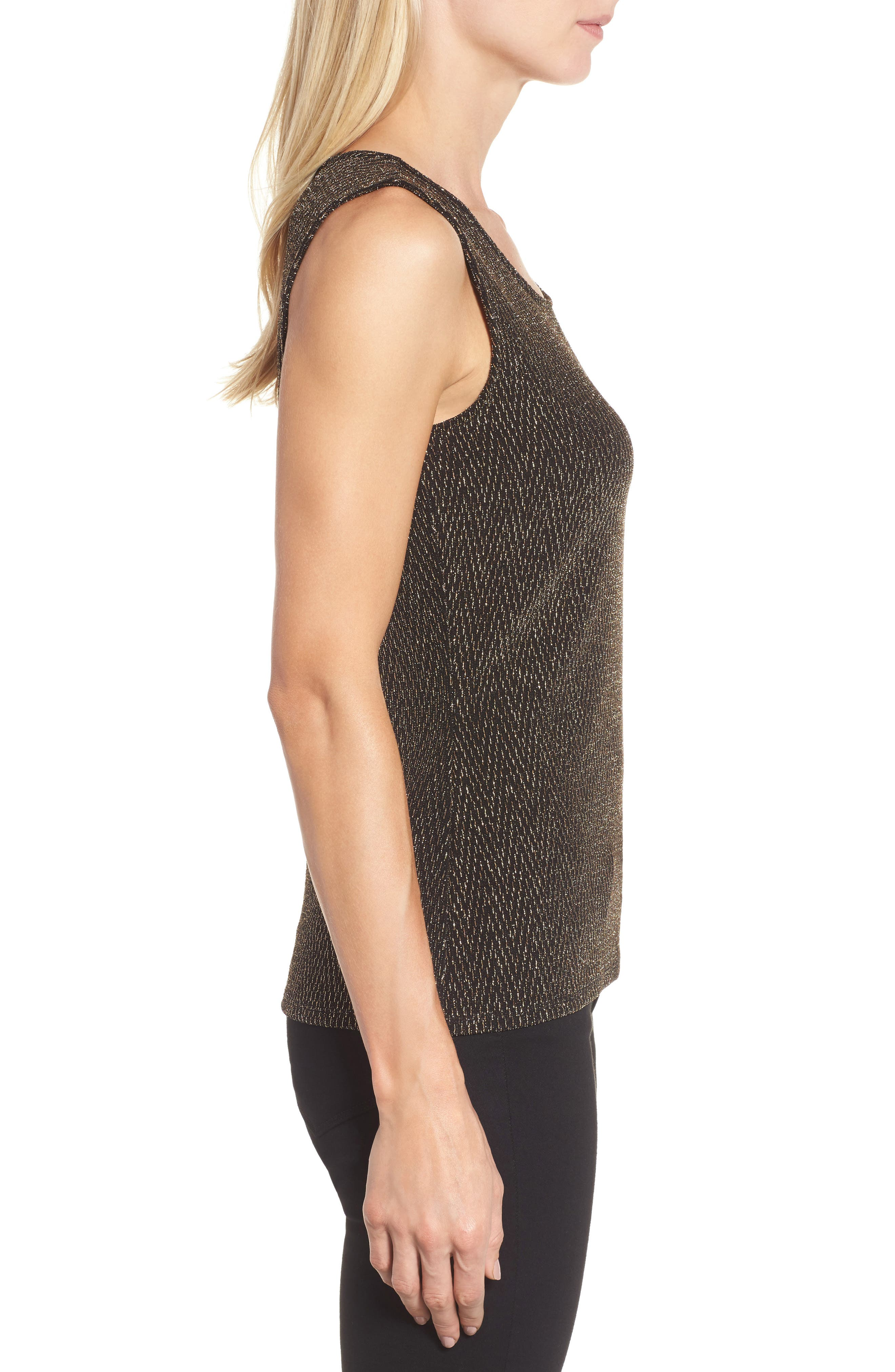 Alternate Image 3  - Chaus Metallic Tank Top