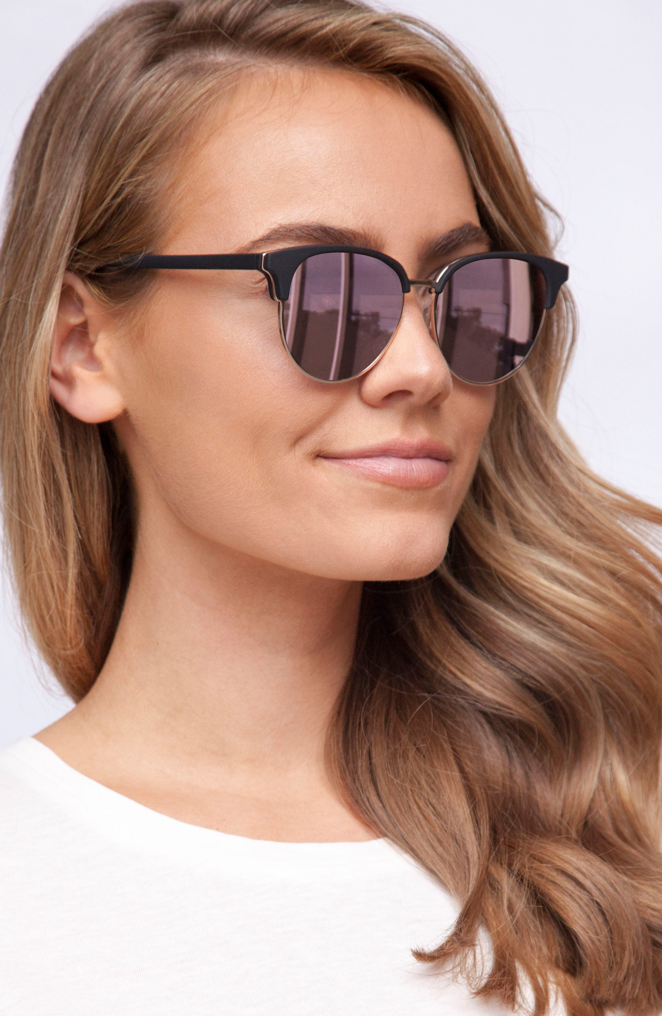 Deja Vu 51mm Round Sunglasses,                             Alternate thumbnail 4, color,