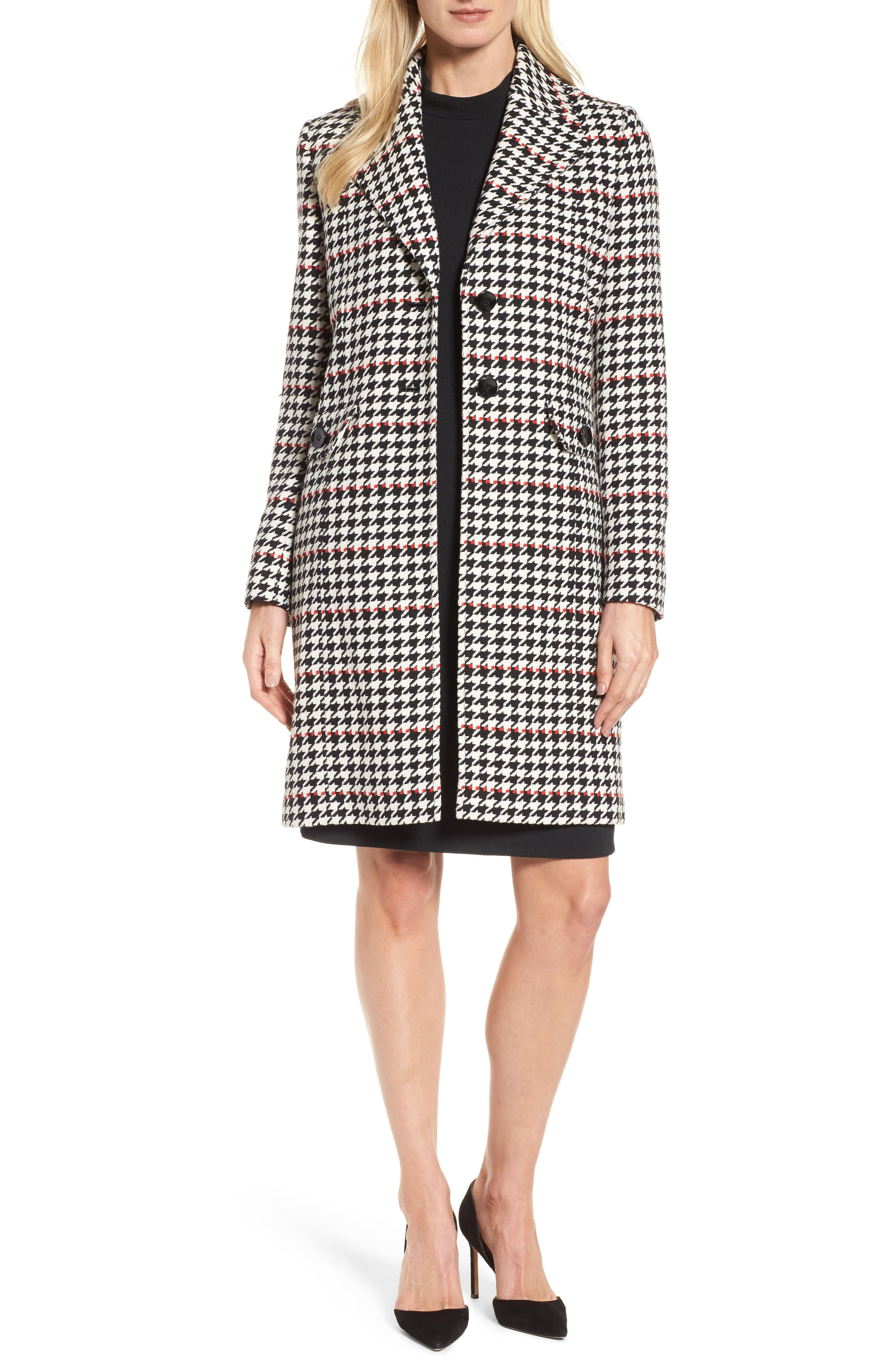 Alternate Image 1 Selected - BOSS Cunarda Houndstooth Coat