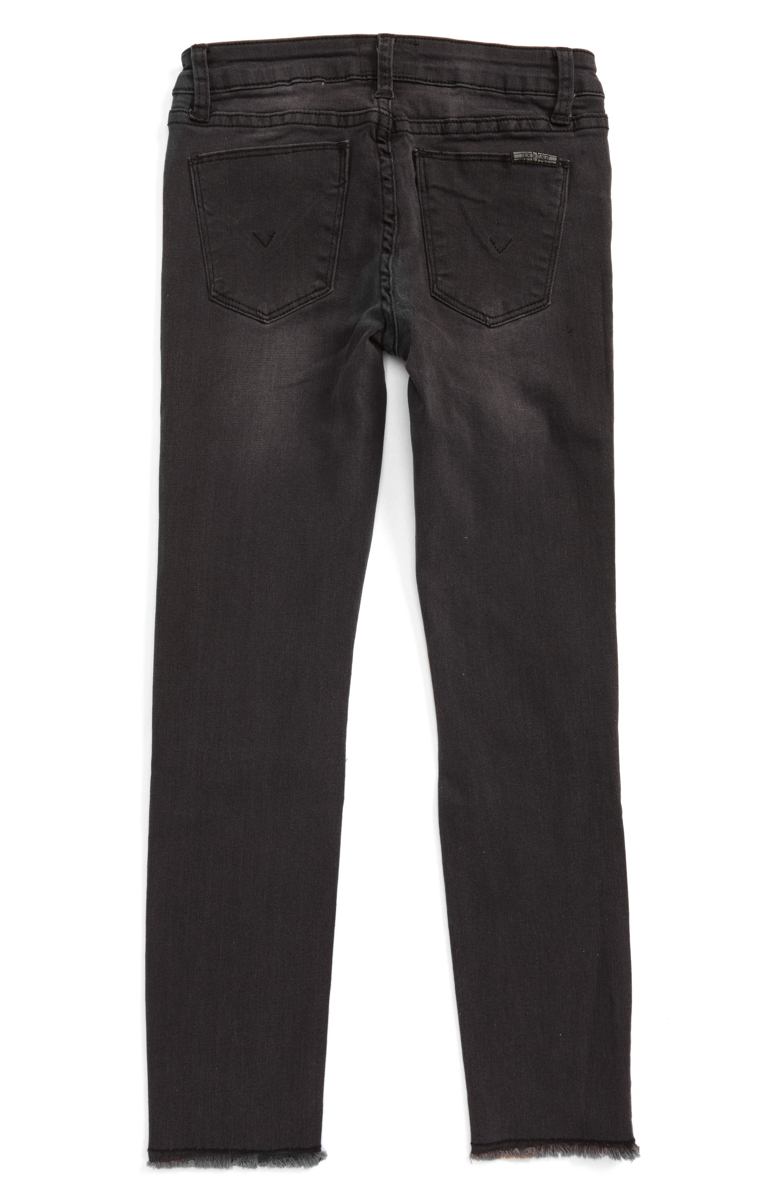 Alternate Image 2  - Hudson Kids Black Iris Skinny Jeans (Big Girls)