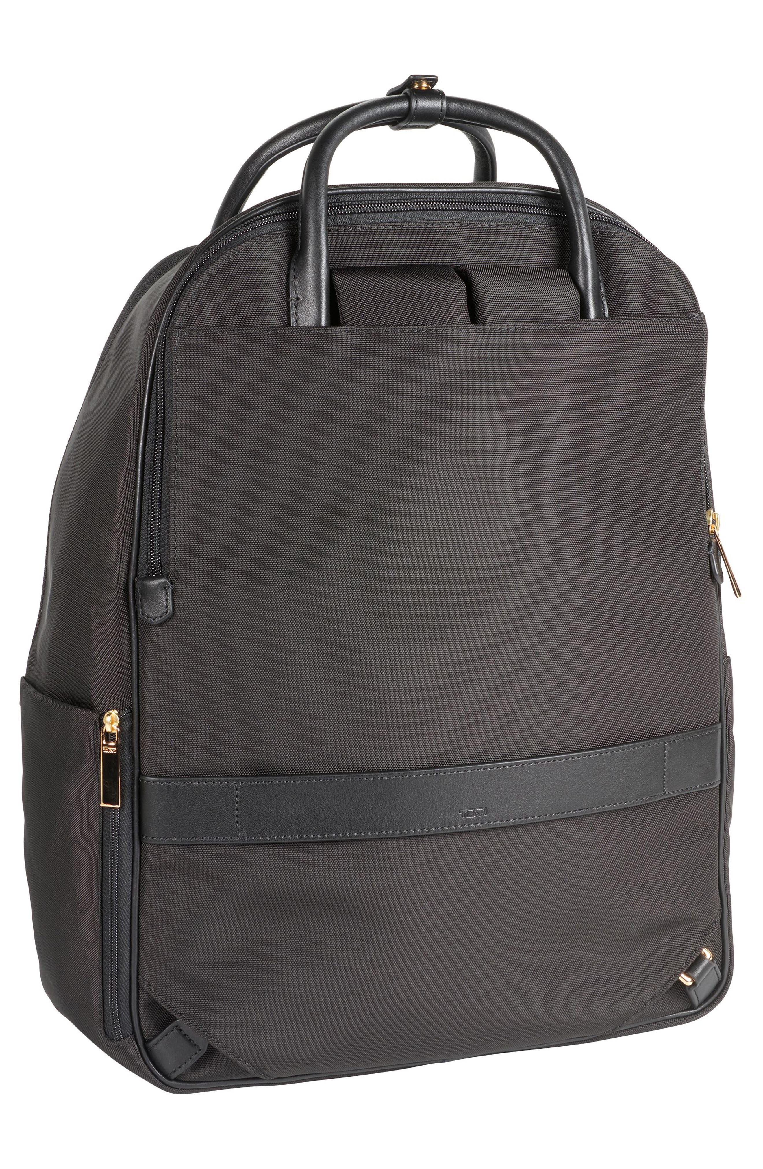 Larkin - Paterson Convertible Nylon Backpack,                             Alternate thumbnail 4, color,                             Black
