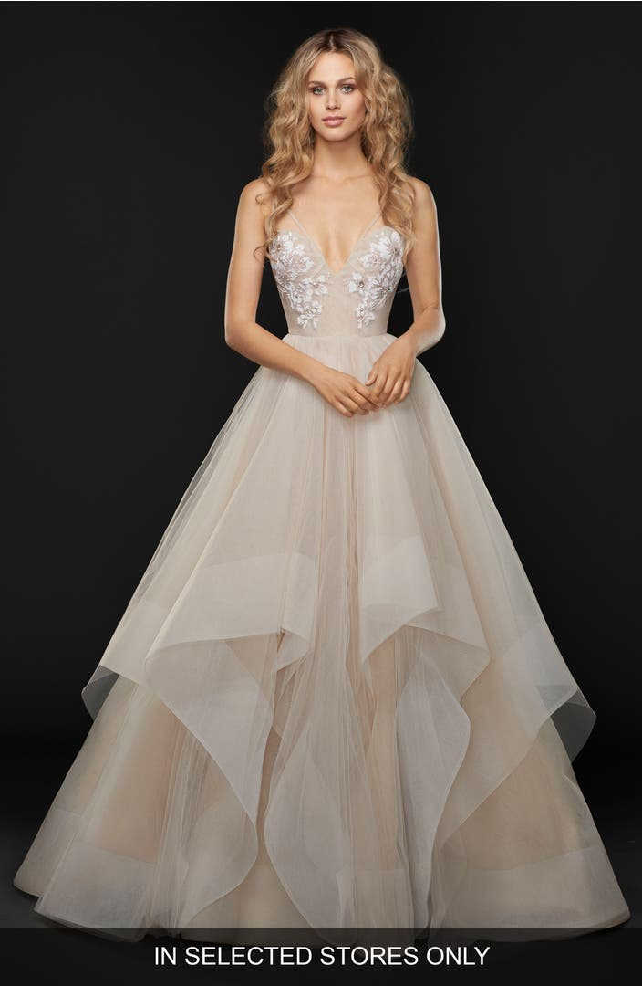 Hayley paige keagan embellished tulle ballgown nordstrom for Wedding dresses near me now