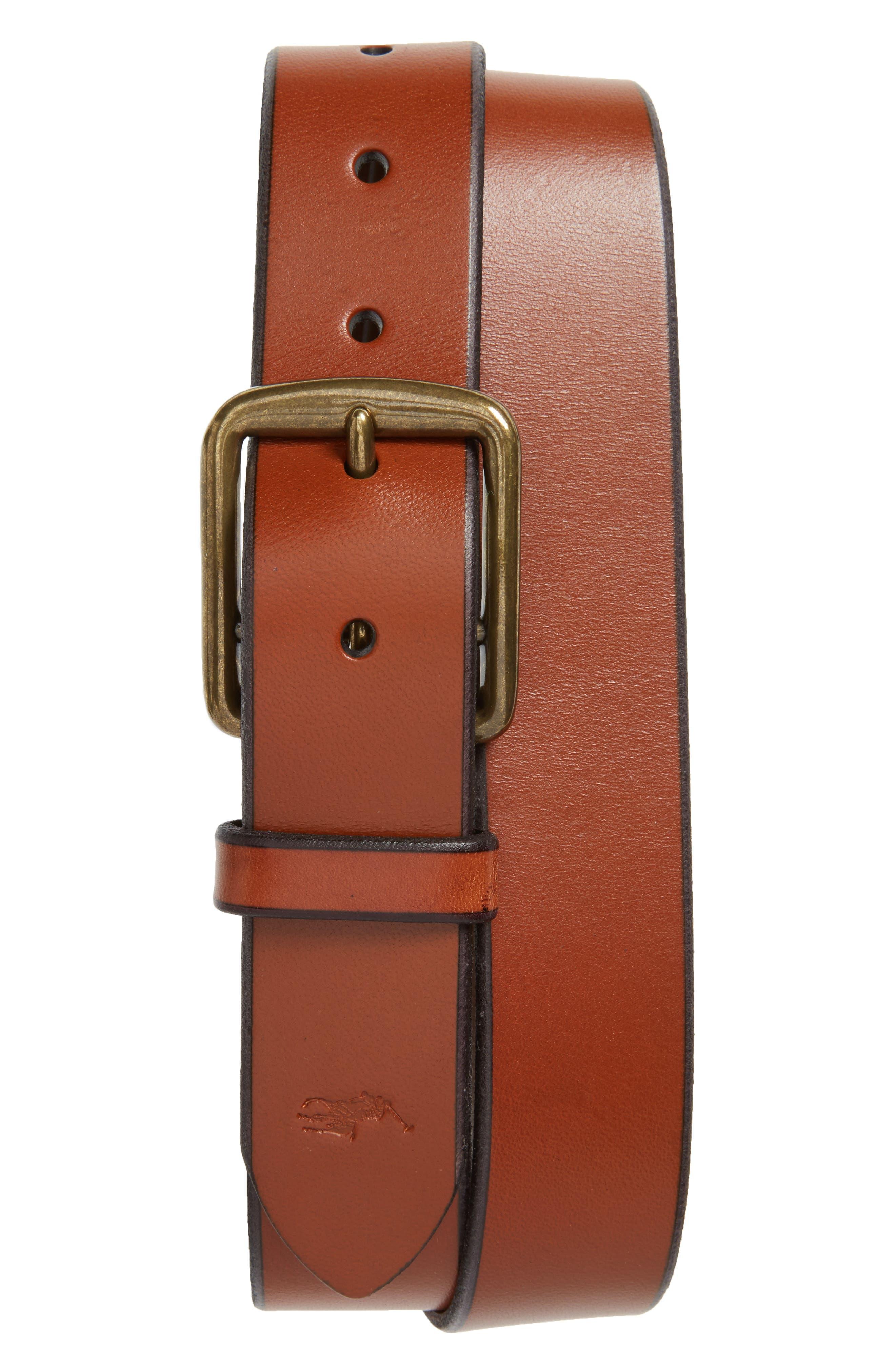 Alternate Image 1 Selected - Polo Ralph Lauren Leather Belt