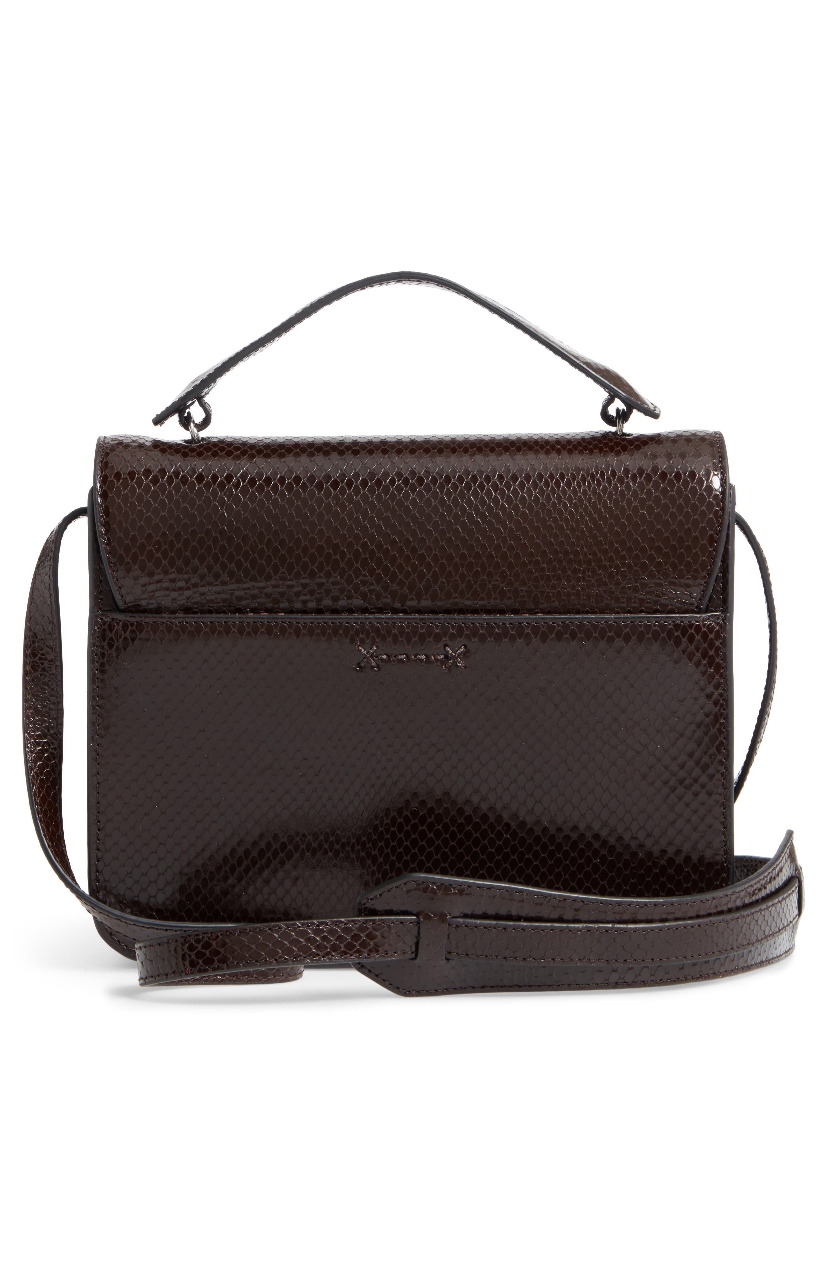 Eloise Genuine Calf Hair & Leather Shoulder Bag,                             Alternate thumbnail 2, color,                             Chocolate