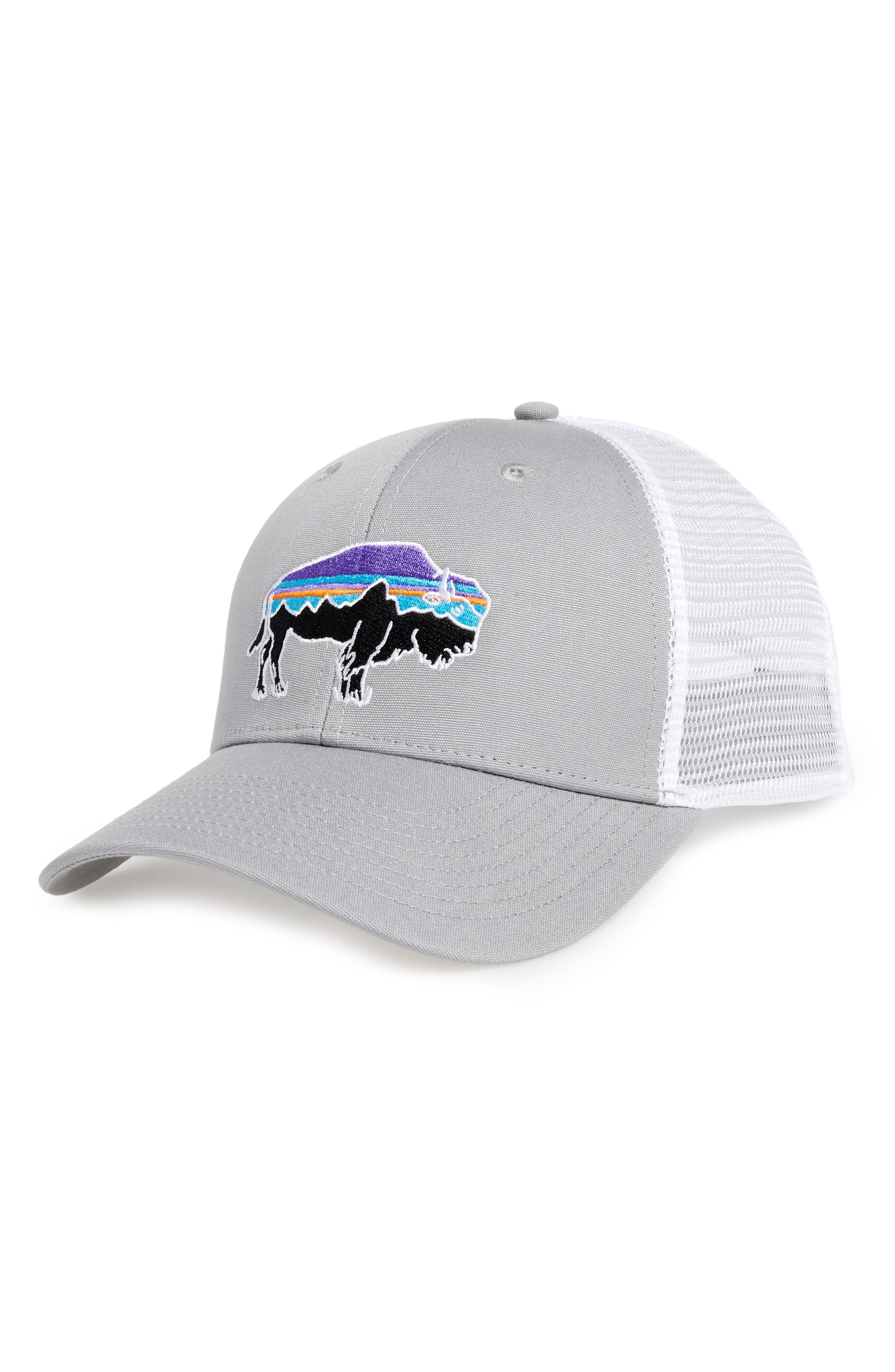 'Fitz Roy Bison' Trucker Hat,                         Main,                         color, Drifter Grey