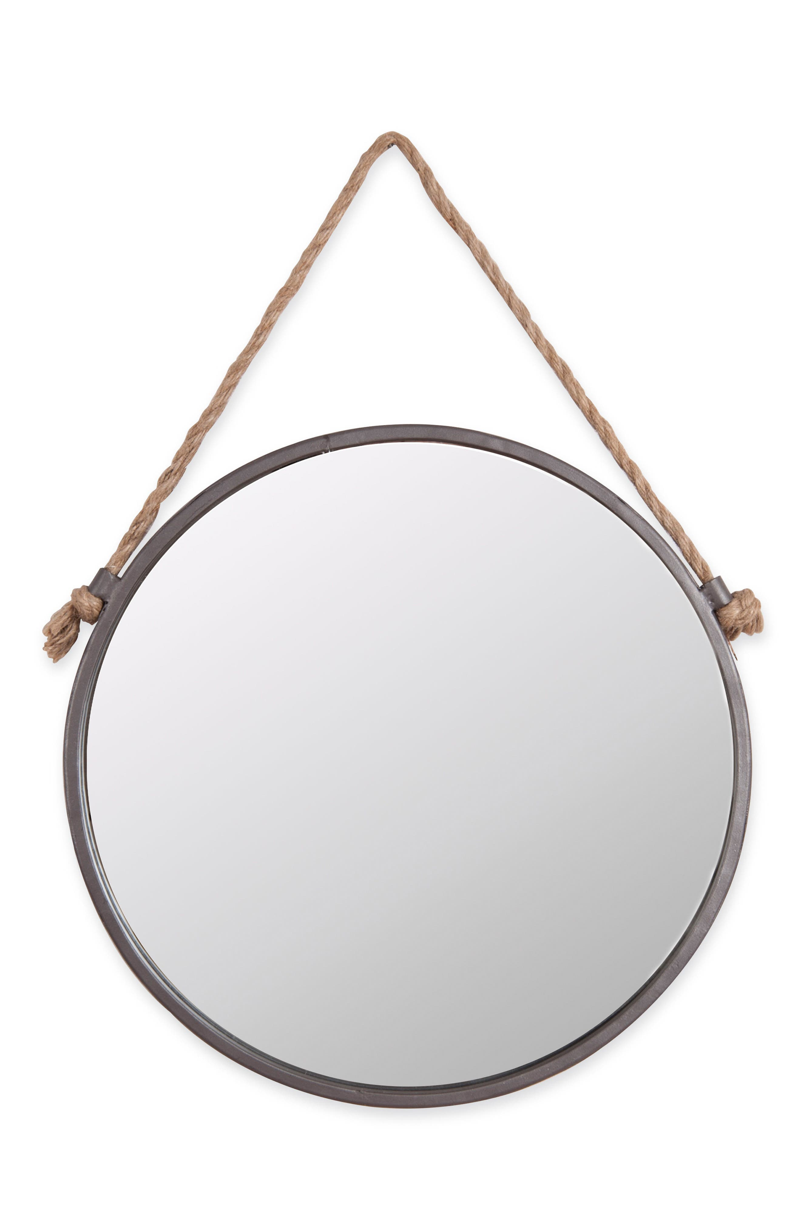 Round Mirror,                             Main thumbnail 1, color,                             Metal/ Wood/ Rope