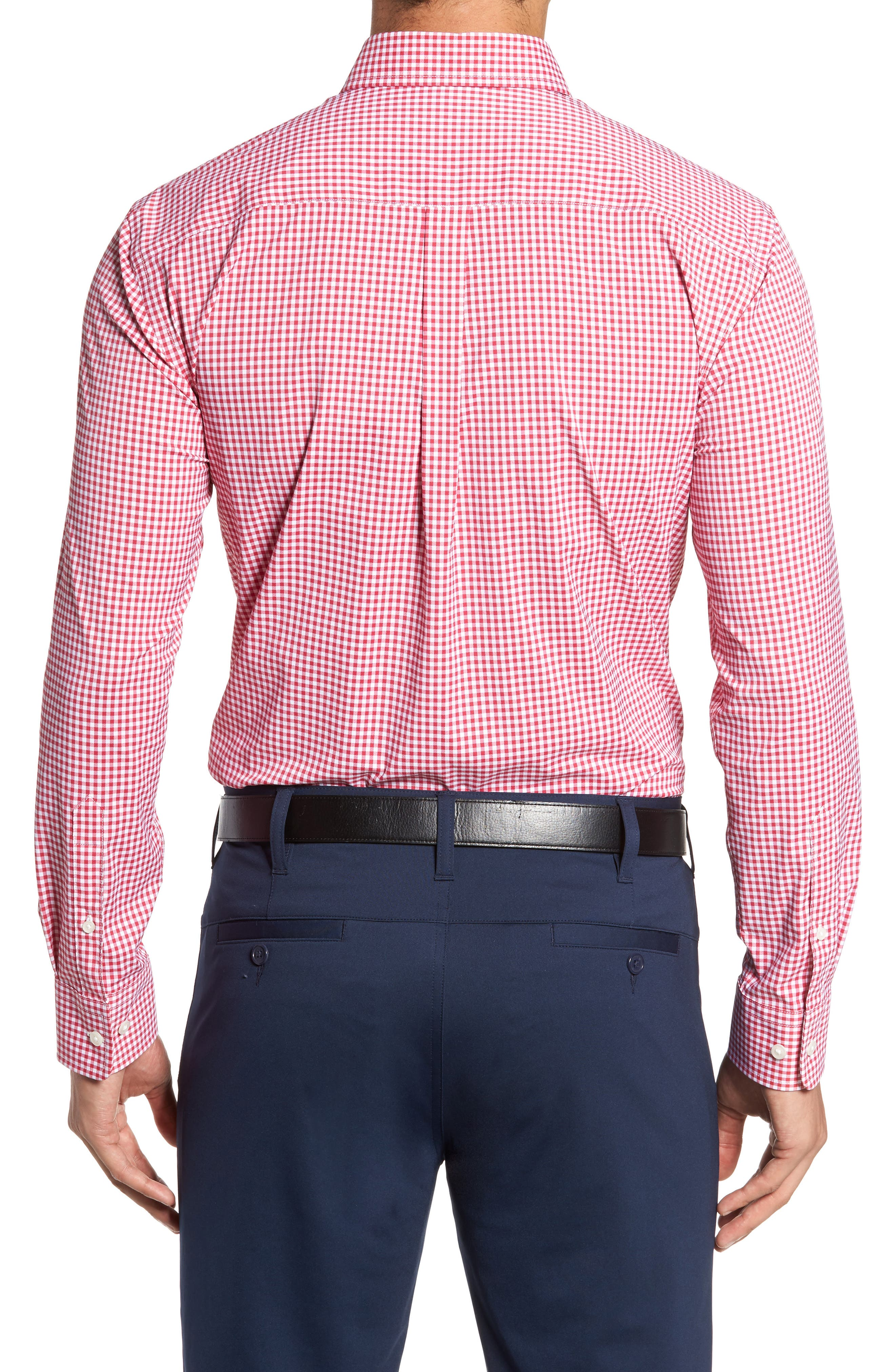 Ramsey Easy Care Gingham Sport Shirt,                             Alternate thumbnail 2, color,                             Pompei Pink