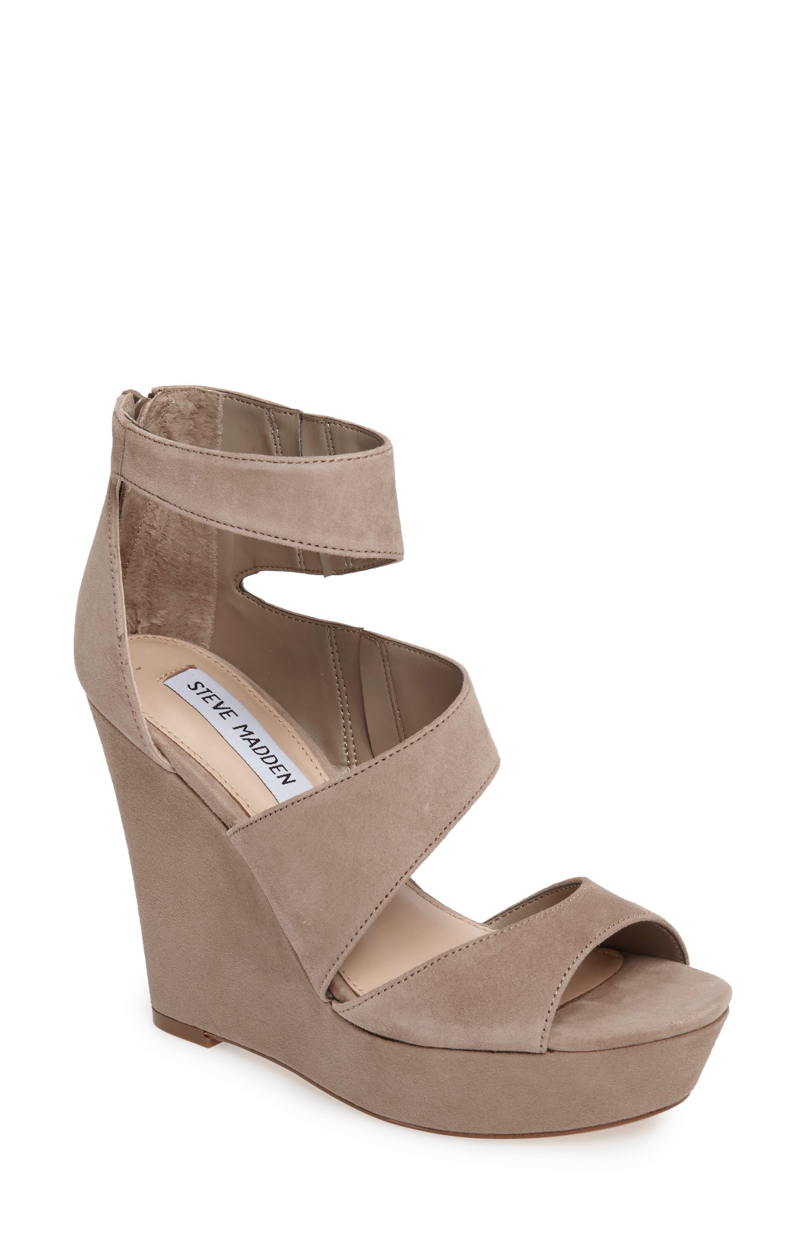Steve Madden Essey Asymmetrical Platform Wedge Sandal (Women)