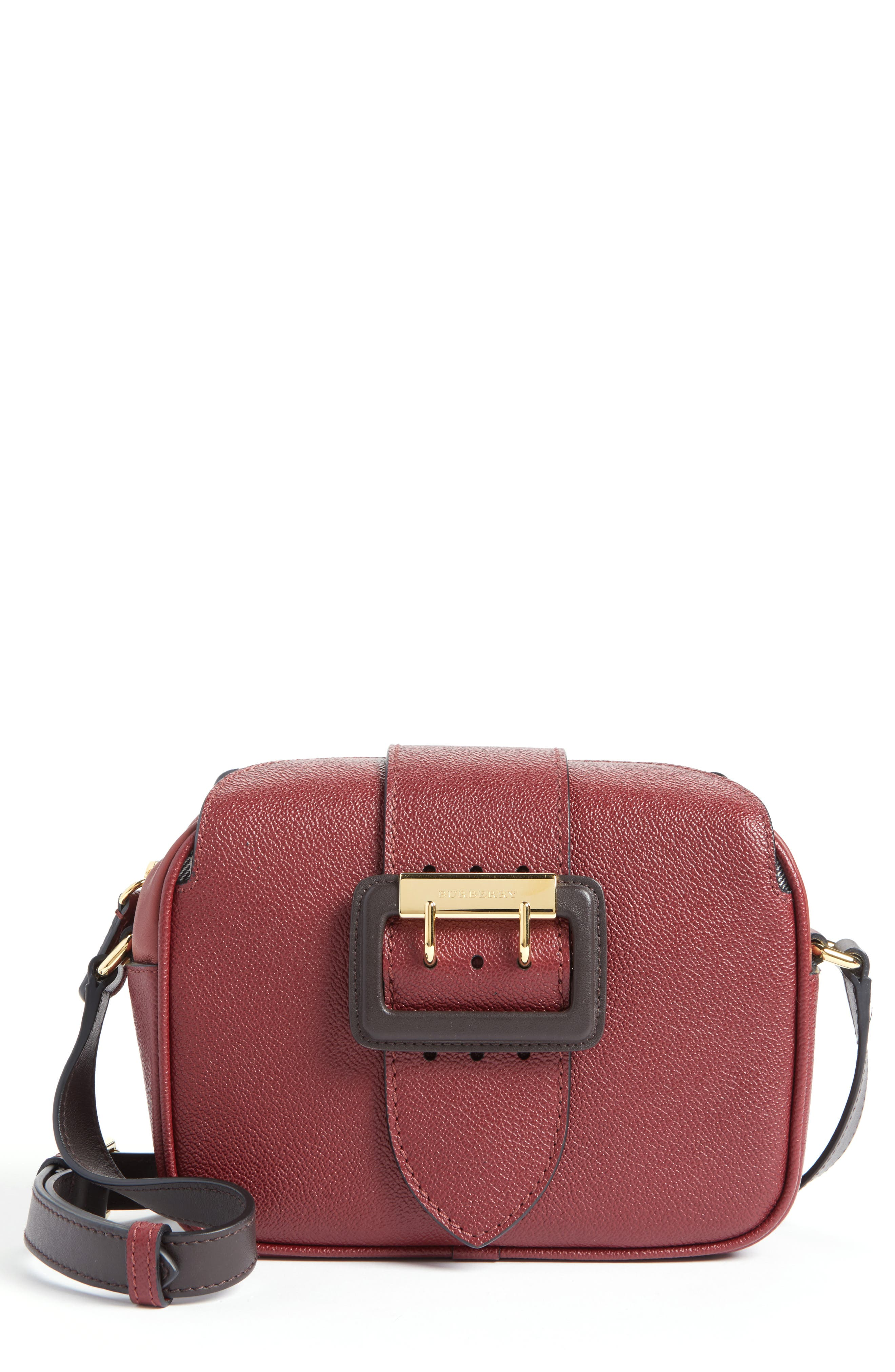 Main Image - Burberry Small Buckle Leather Camera Crossbody Bag