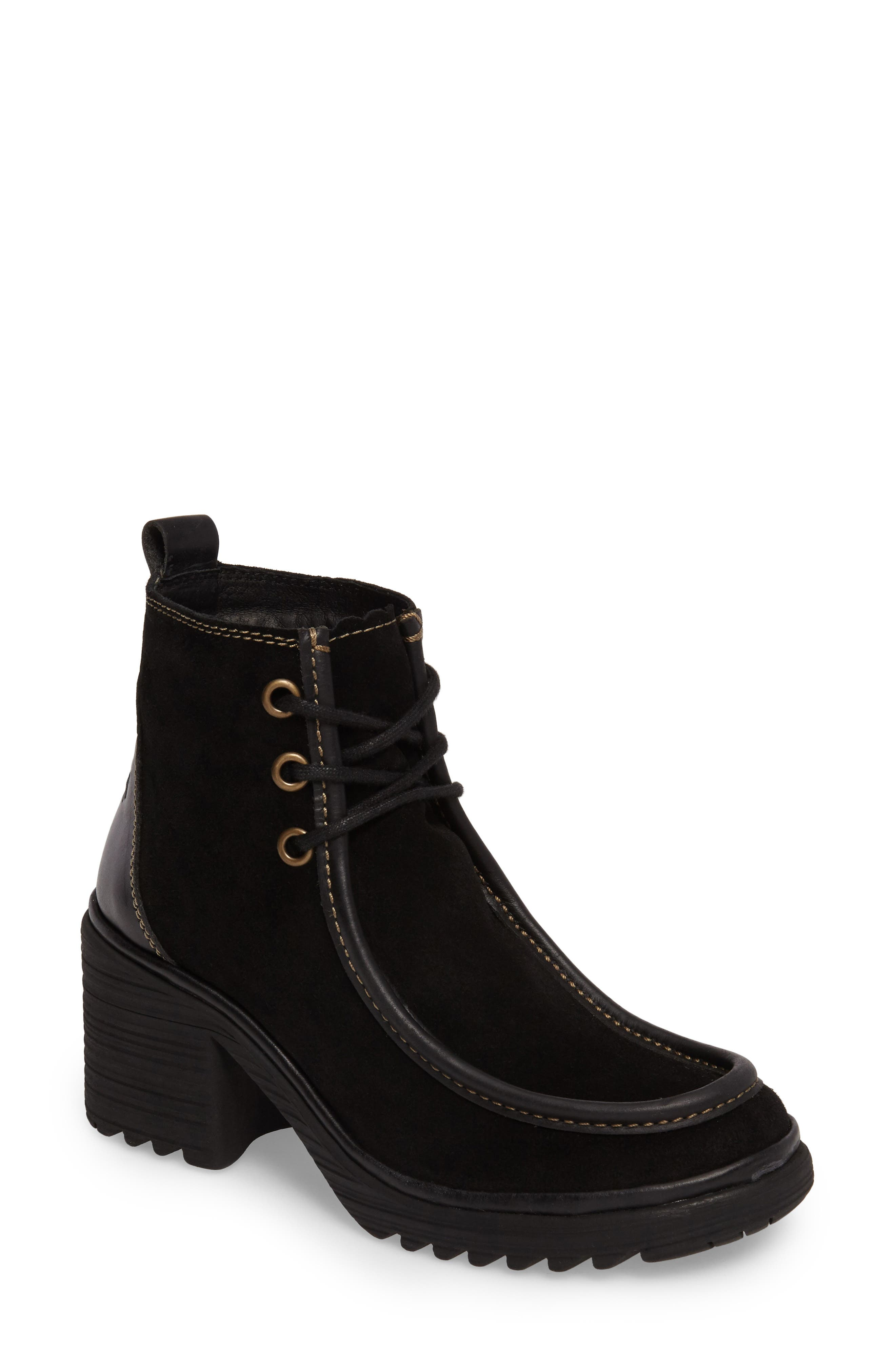Wins Boot,                             Main thumbnail 1, color,                             Black Oil Suede