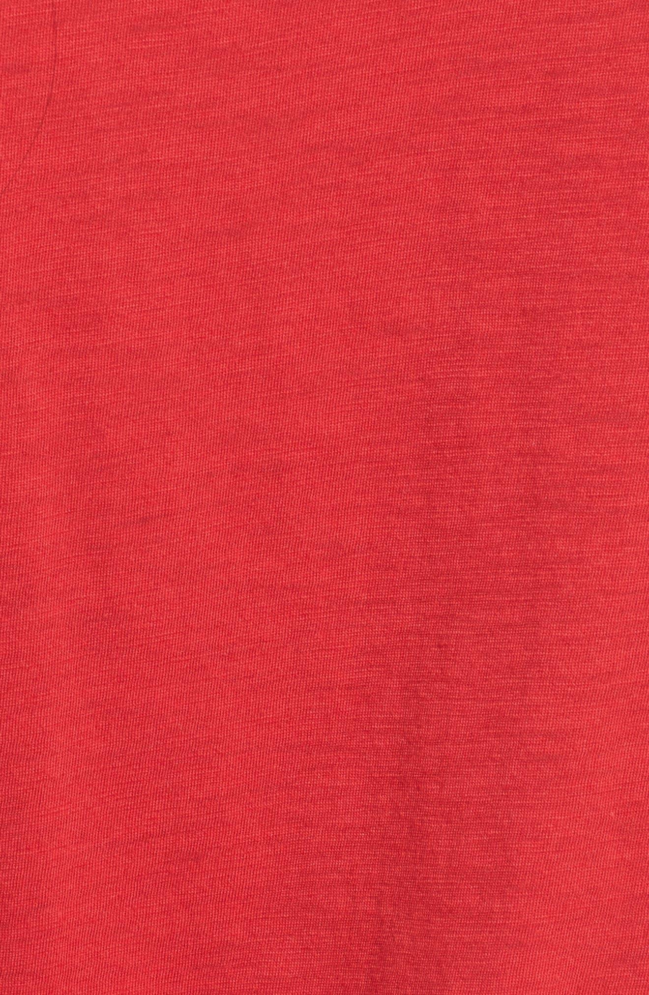 Alternate Image 5  - Socialite Grommet Lace-Up Tee