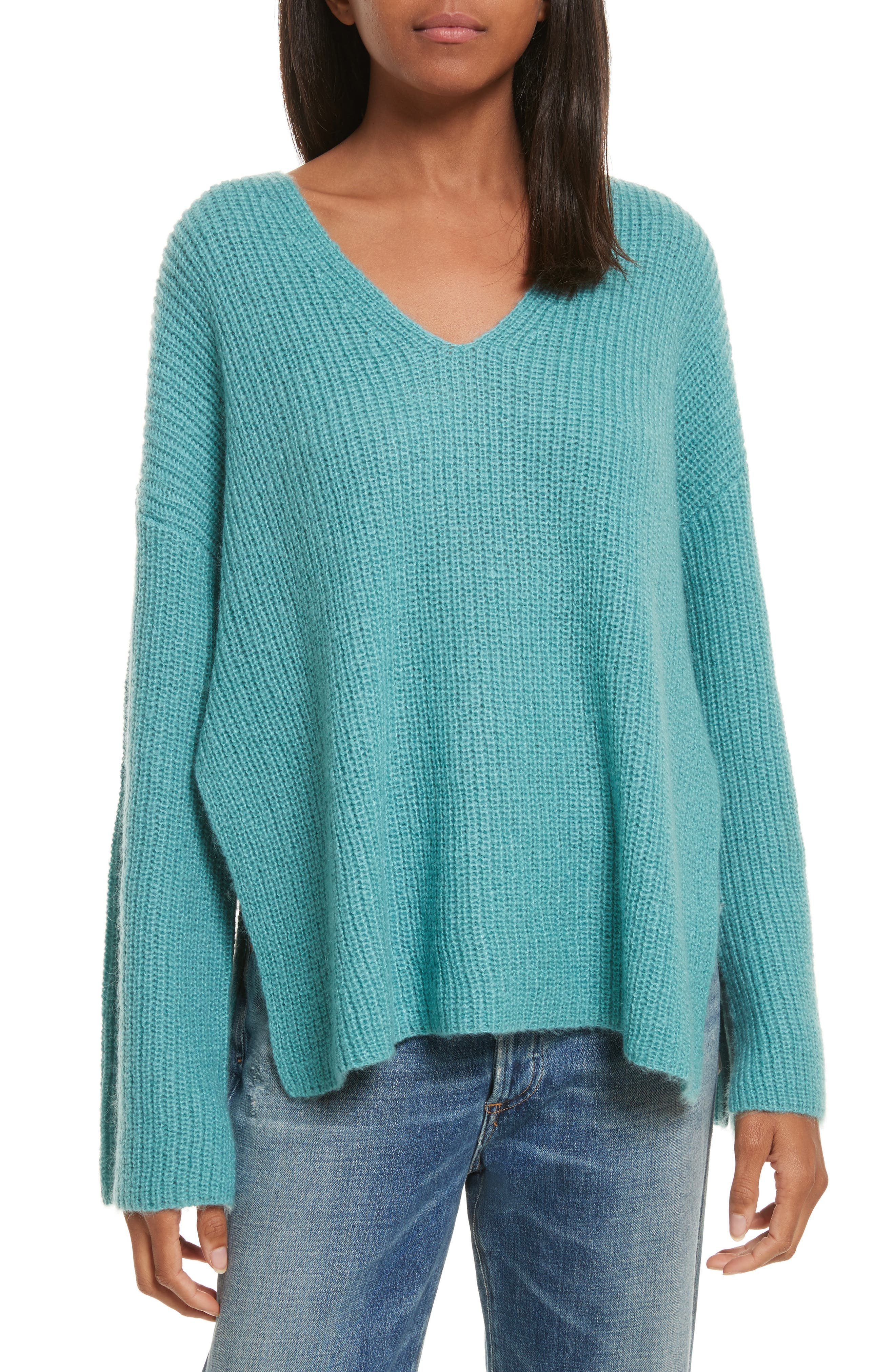 Remi Oversize Sweater,                         Main,                         color, Hydro