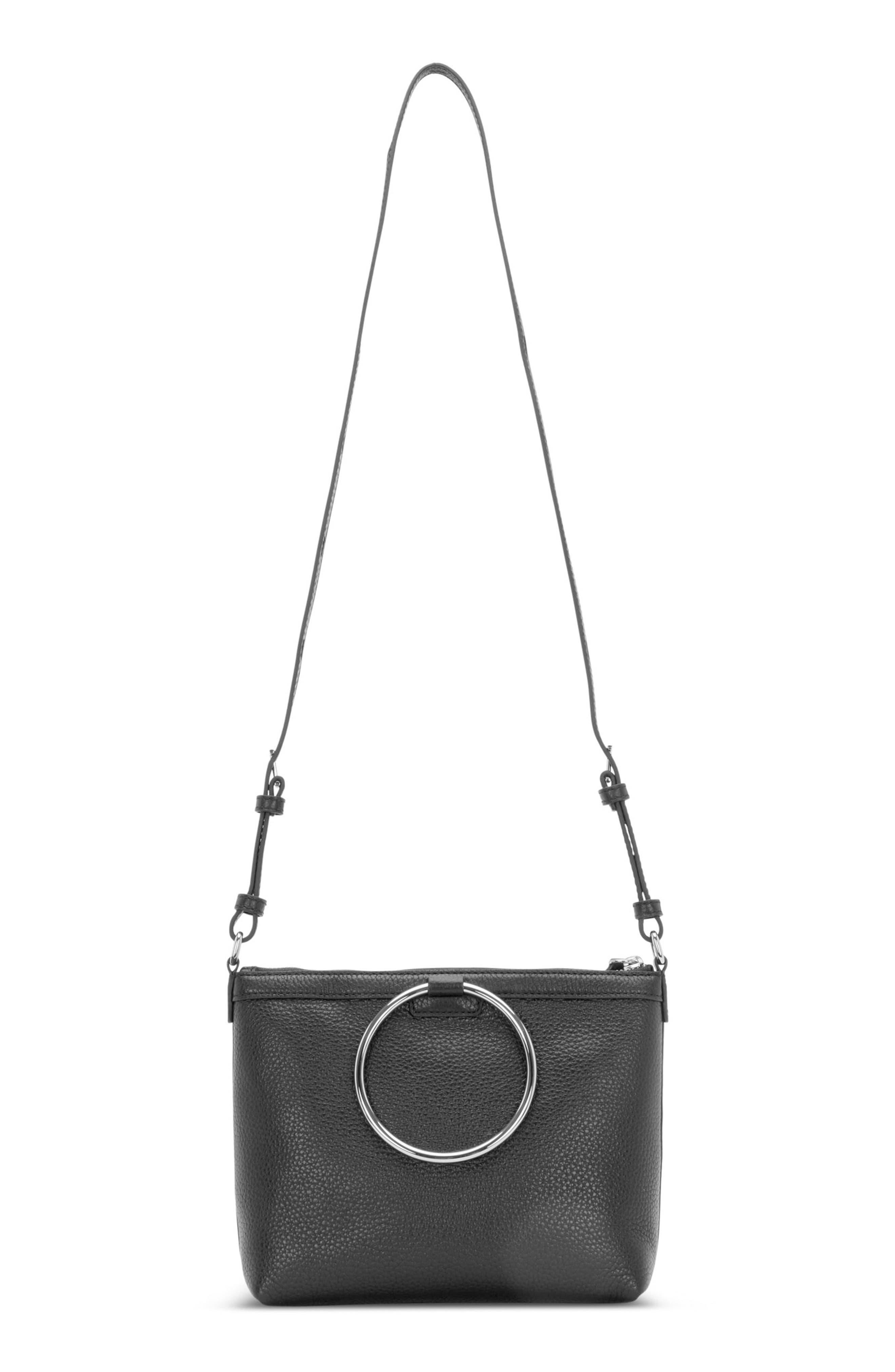 KARA Pebbled Leather Ring Crossbody Bag