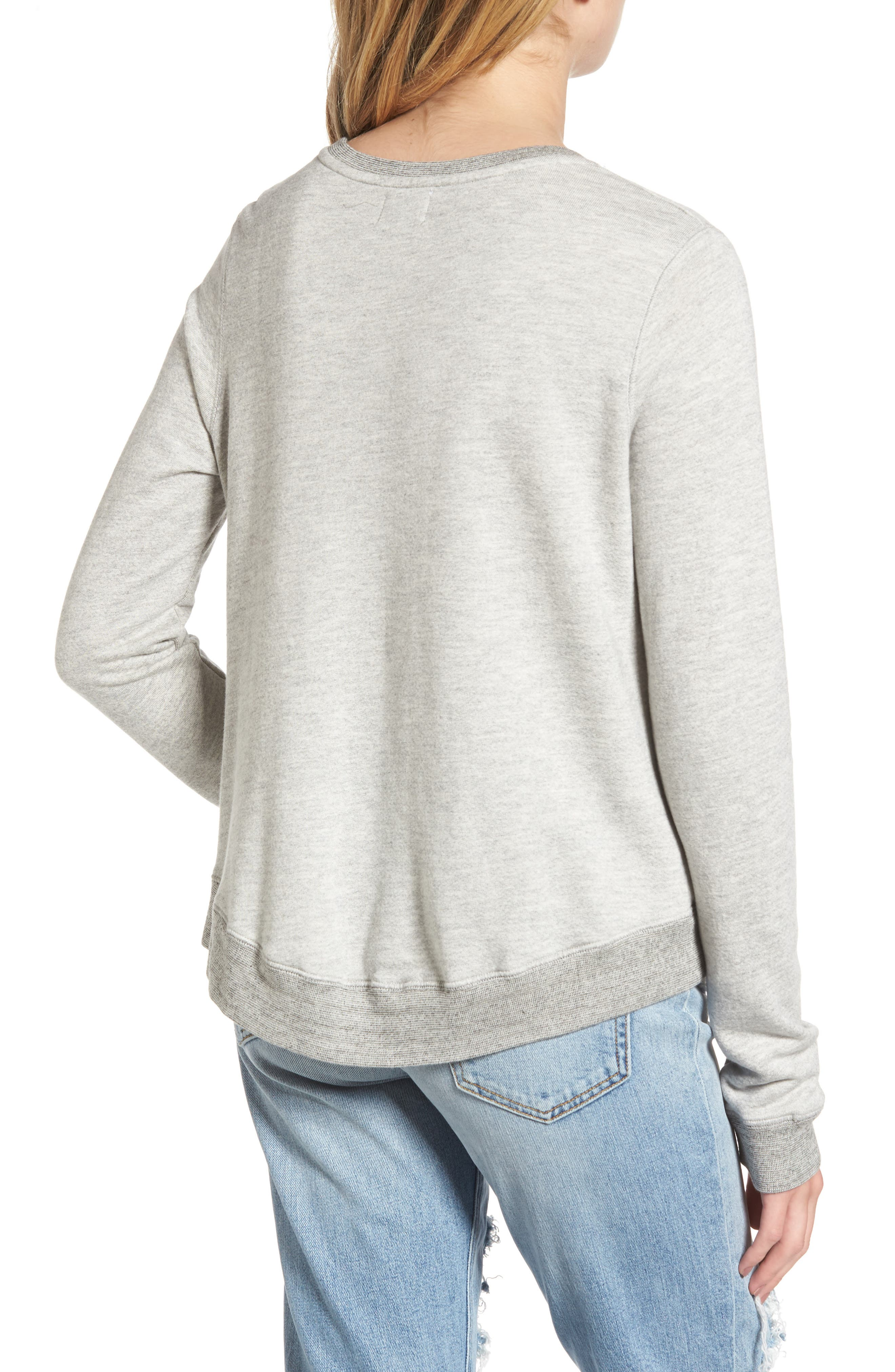 Love Sweatshirt,                             Alternate thumbnail 2, color,                             Heather Grey