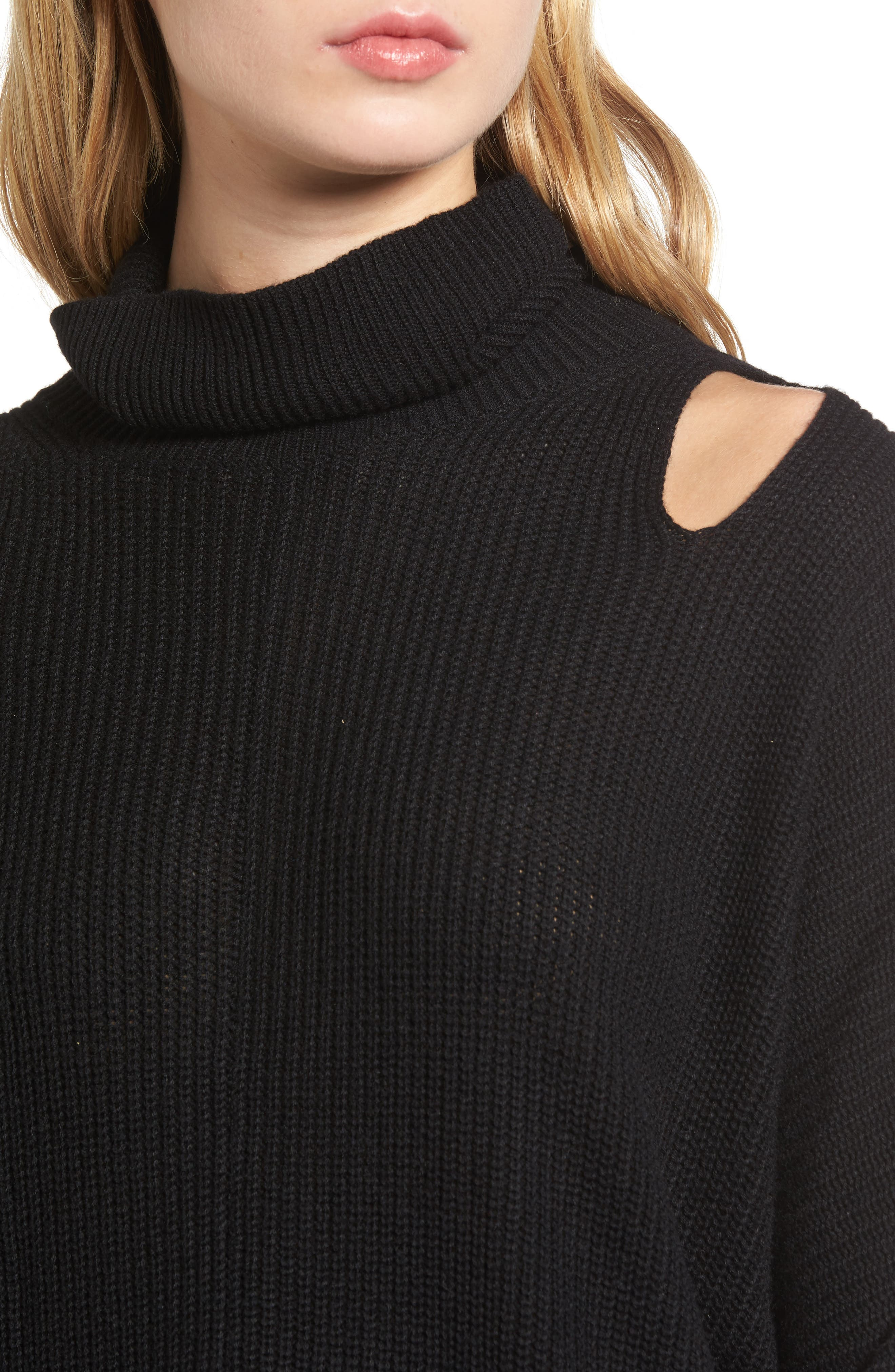 Alternate Image 4  - Ella Moss Cutout Sweater
