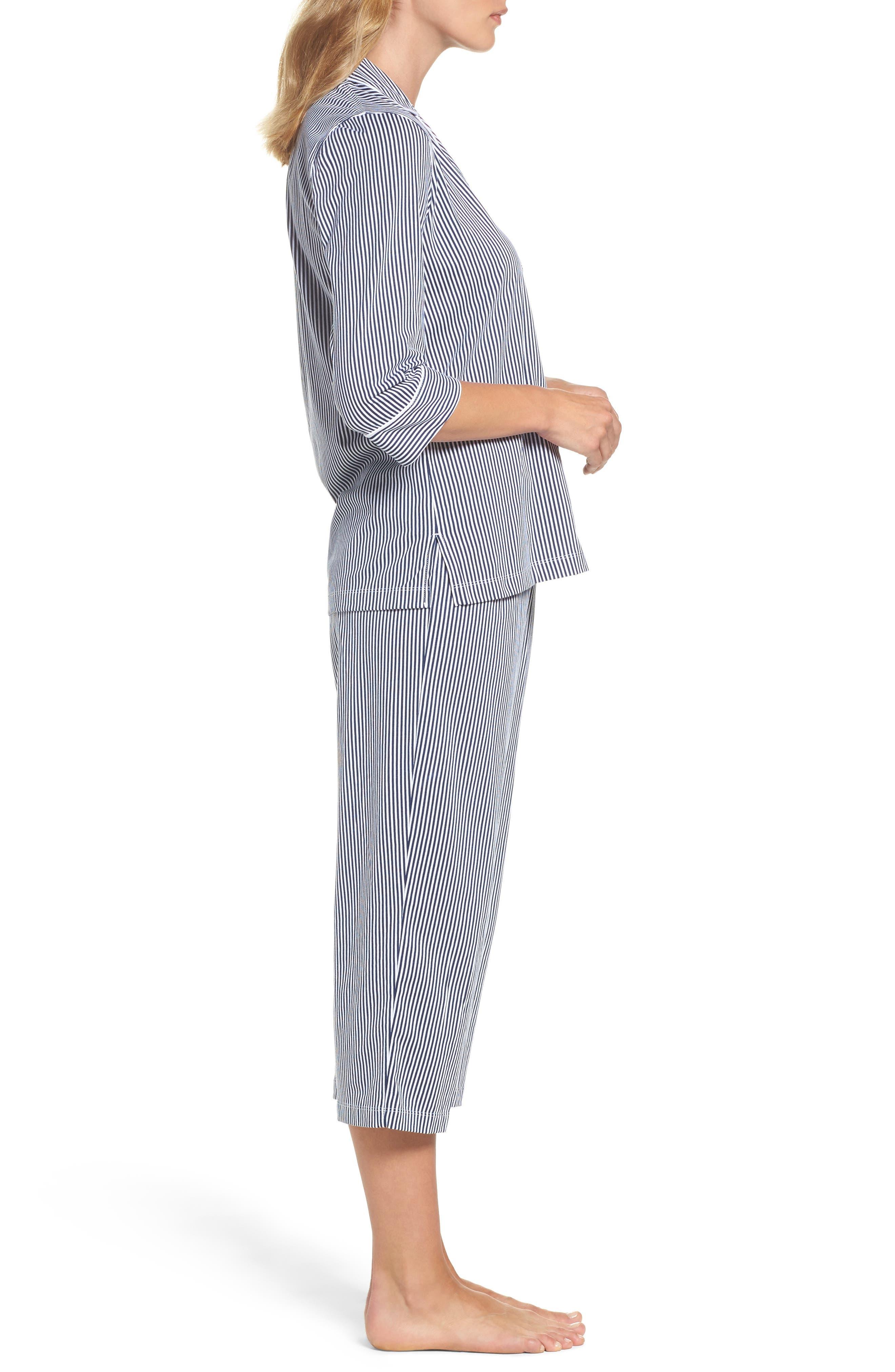 Alternate Image 3  - Lauren Ralph Lauren Knit Crop Pajamas (Online Only)