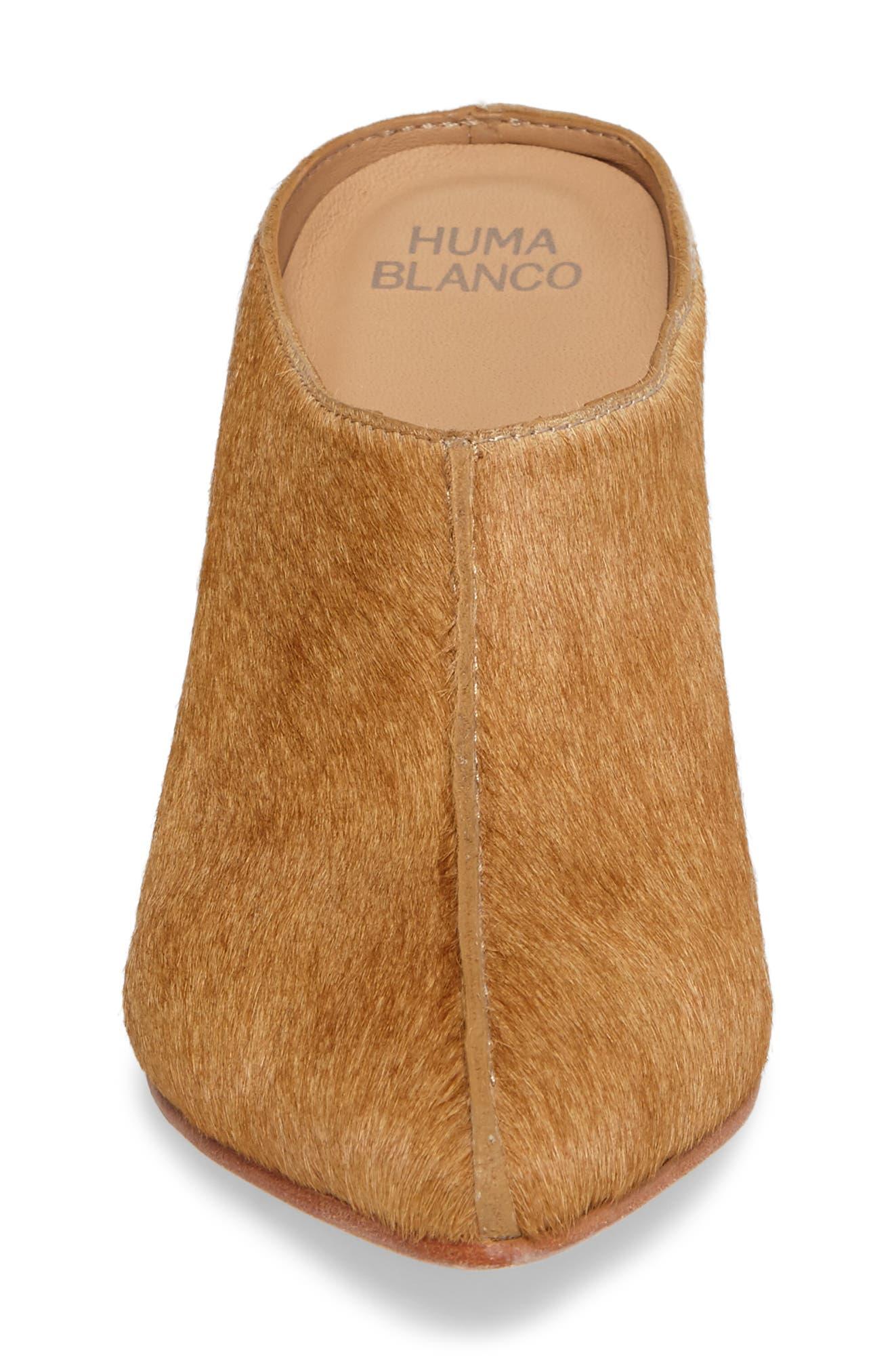 Alternate Image 4  - Huma Blanco Dora Genuine Calf Hair Mule (Women)