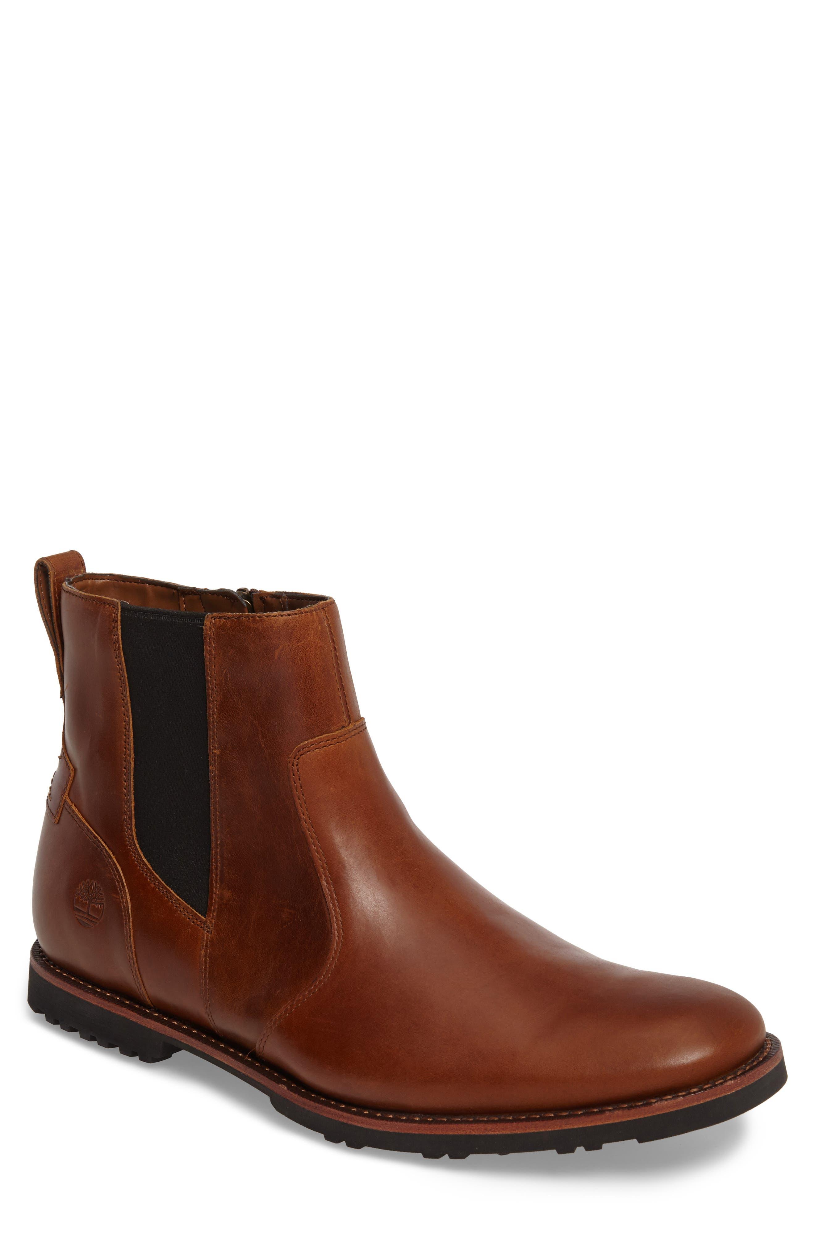Kendrick Zip Boot,                         Main,                         color, Medium Brown Full Grain