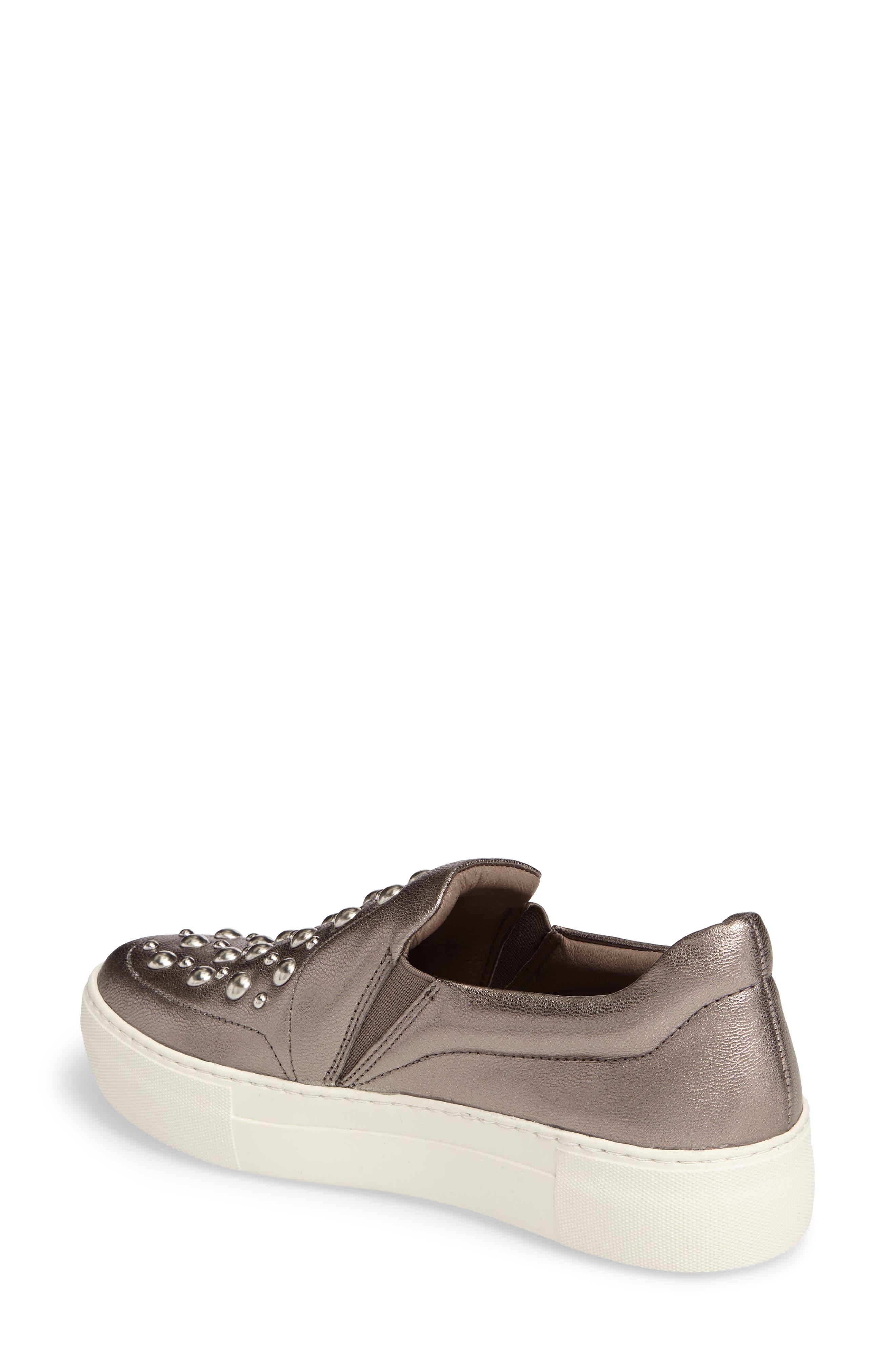 Atom Slip-On Platform Sneaker,                             Alternate thumbnail 2, color,                             Pewter Leather
