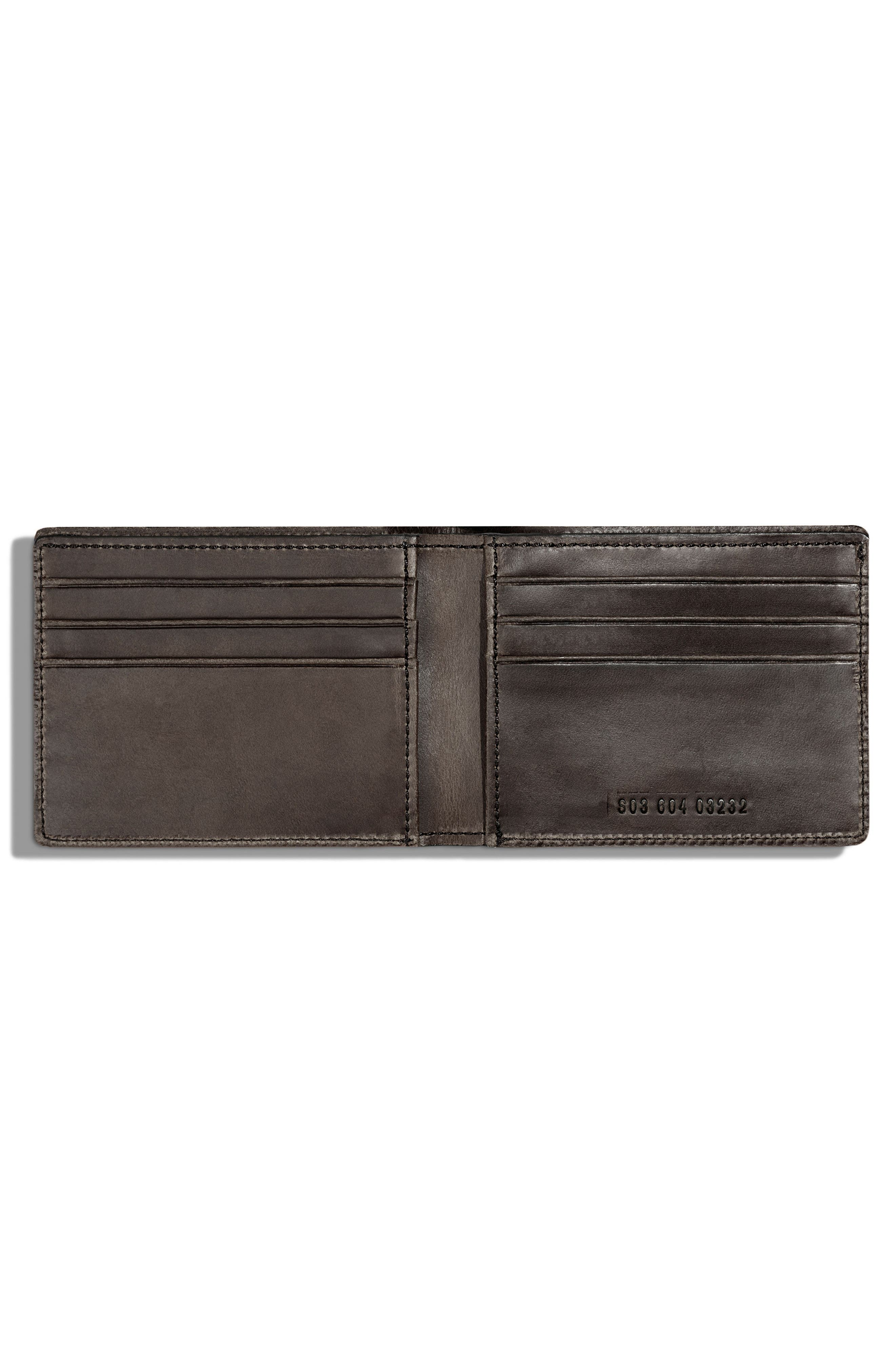 Leather Wallet,                             Alternate thumbnail 2, color,                             Charcoal