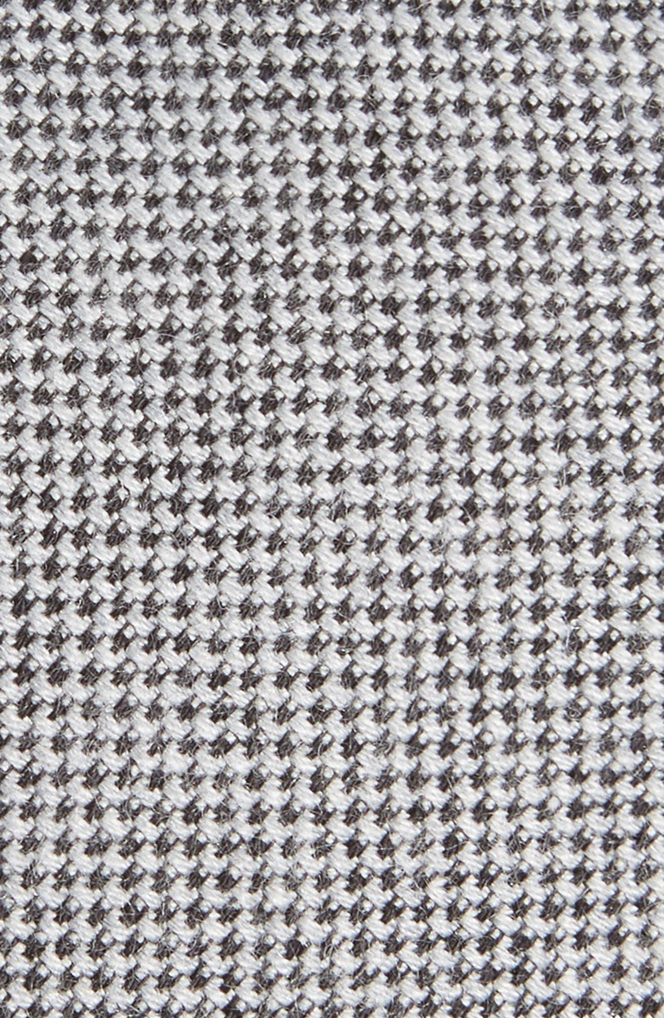 Small Bird's Eye Silk Blend Tie,                             Alternate thumbnail 2, color,                             Birdseye Black
