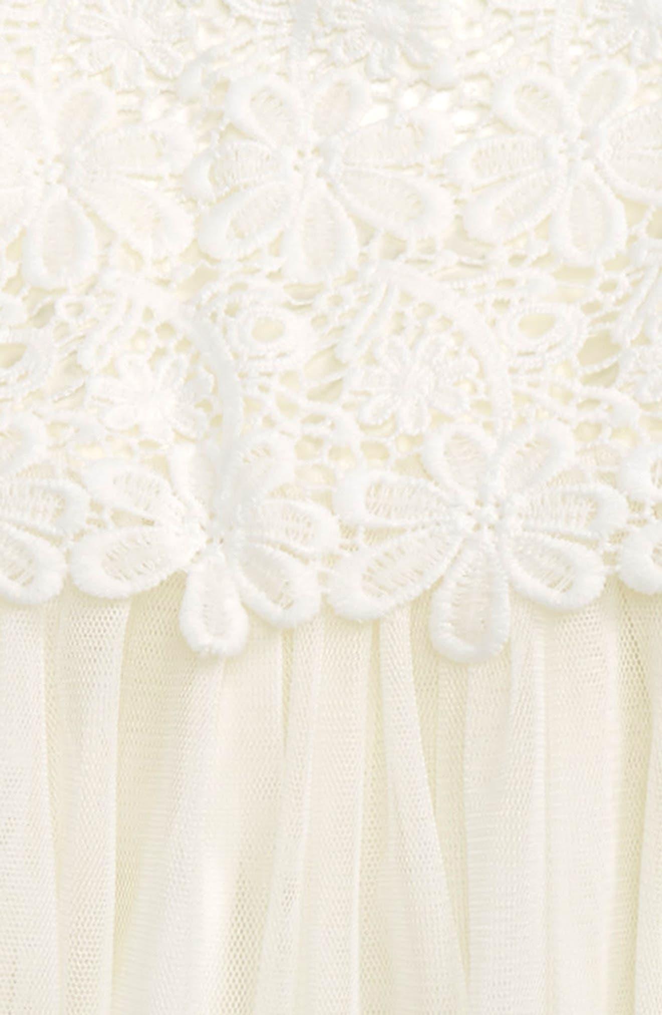 Lace & Tulle Dress,                             Alternate thumbnail 2, color,                             White