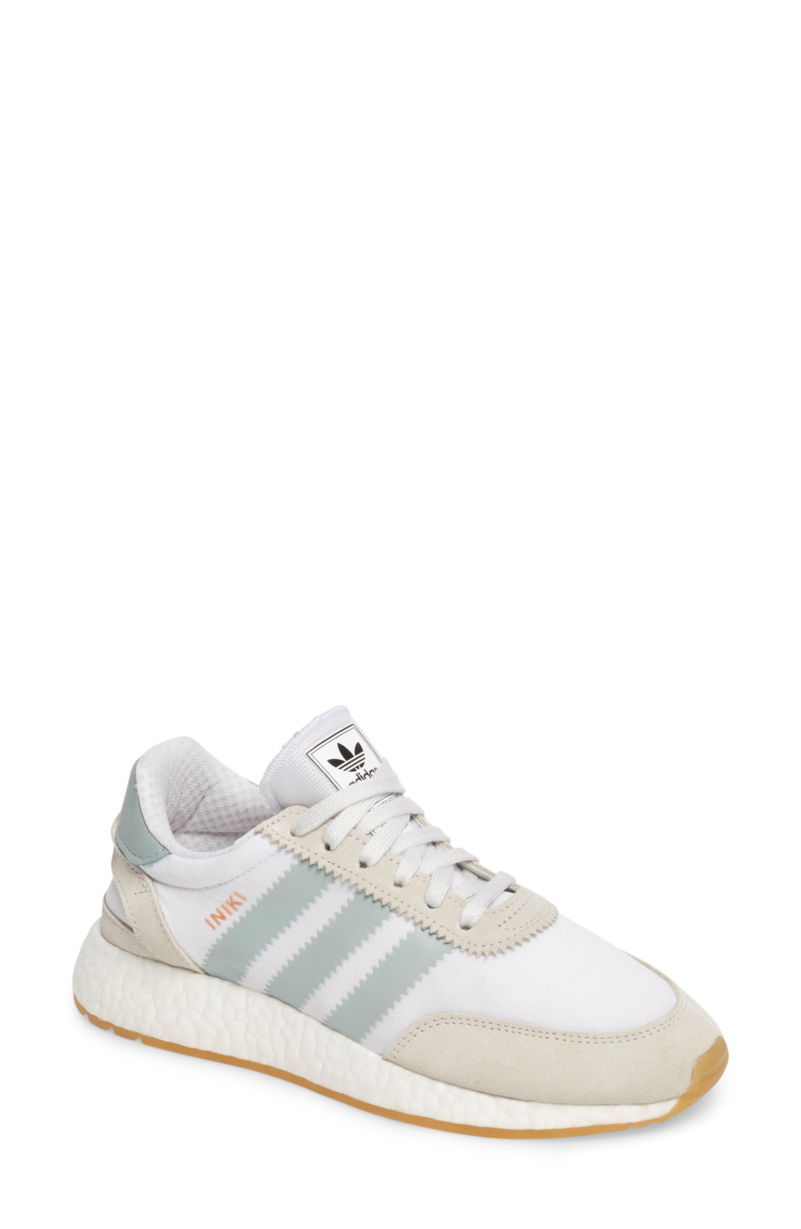 Adidas Originals Iniki Runner sneaker, blanco / verde / Gum táctil