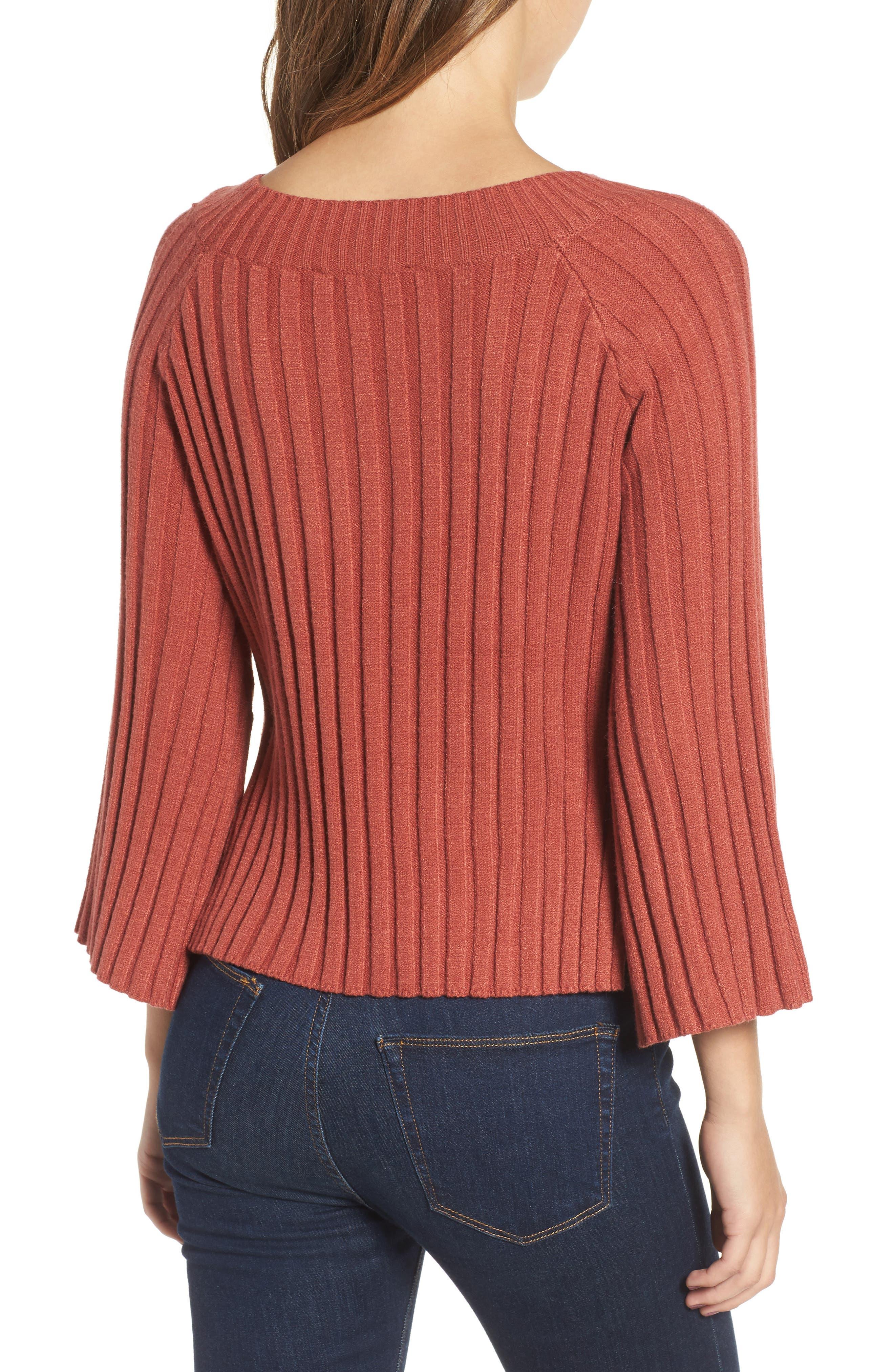 Alternate Image 2  - J.O.A. Crop Ribbed Sweater