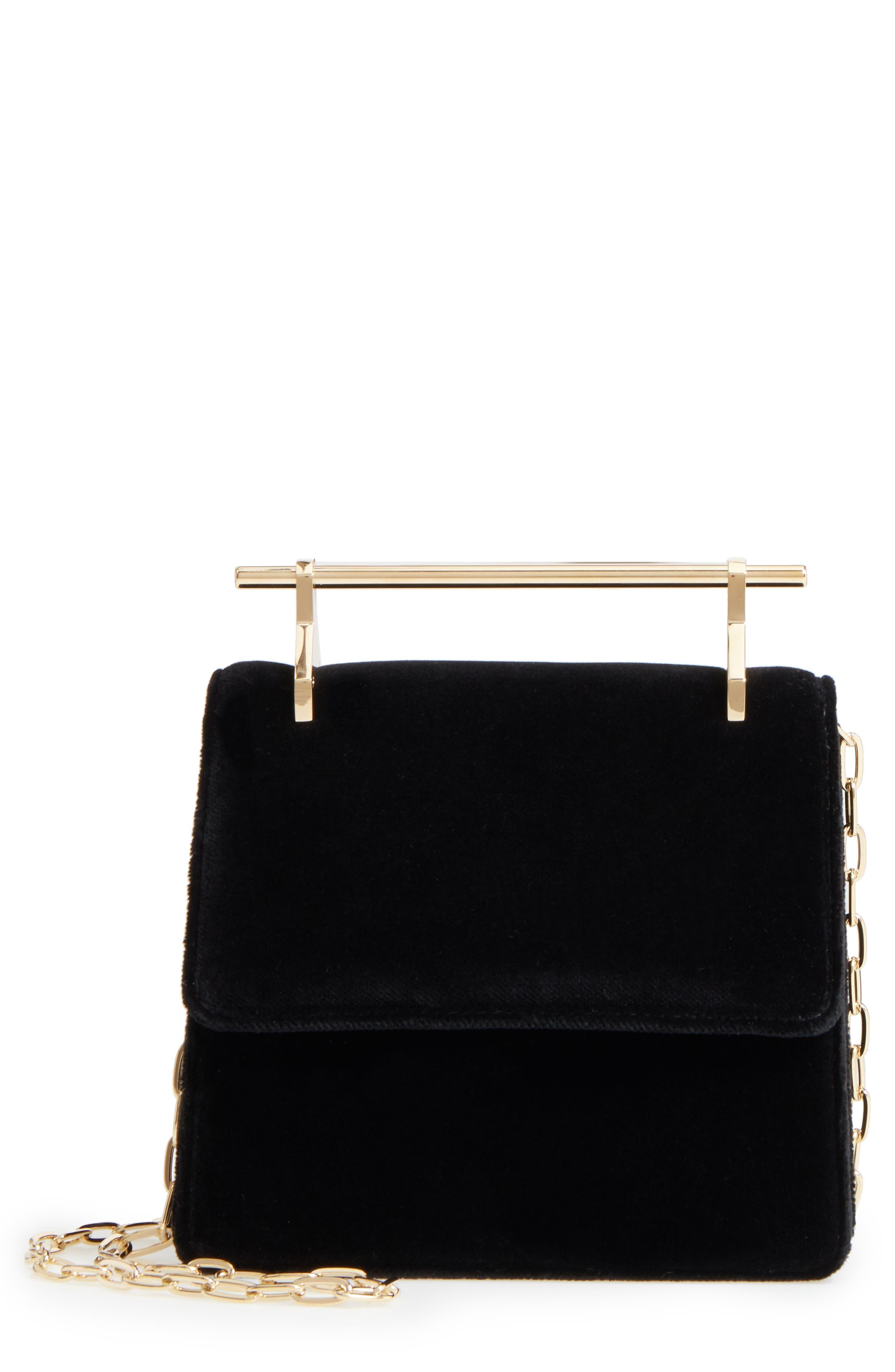 M2MALLETIER Mini La Collectionneuse Velvet Crossbody Bag