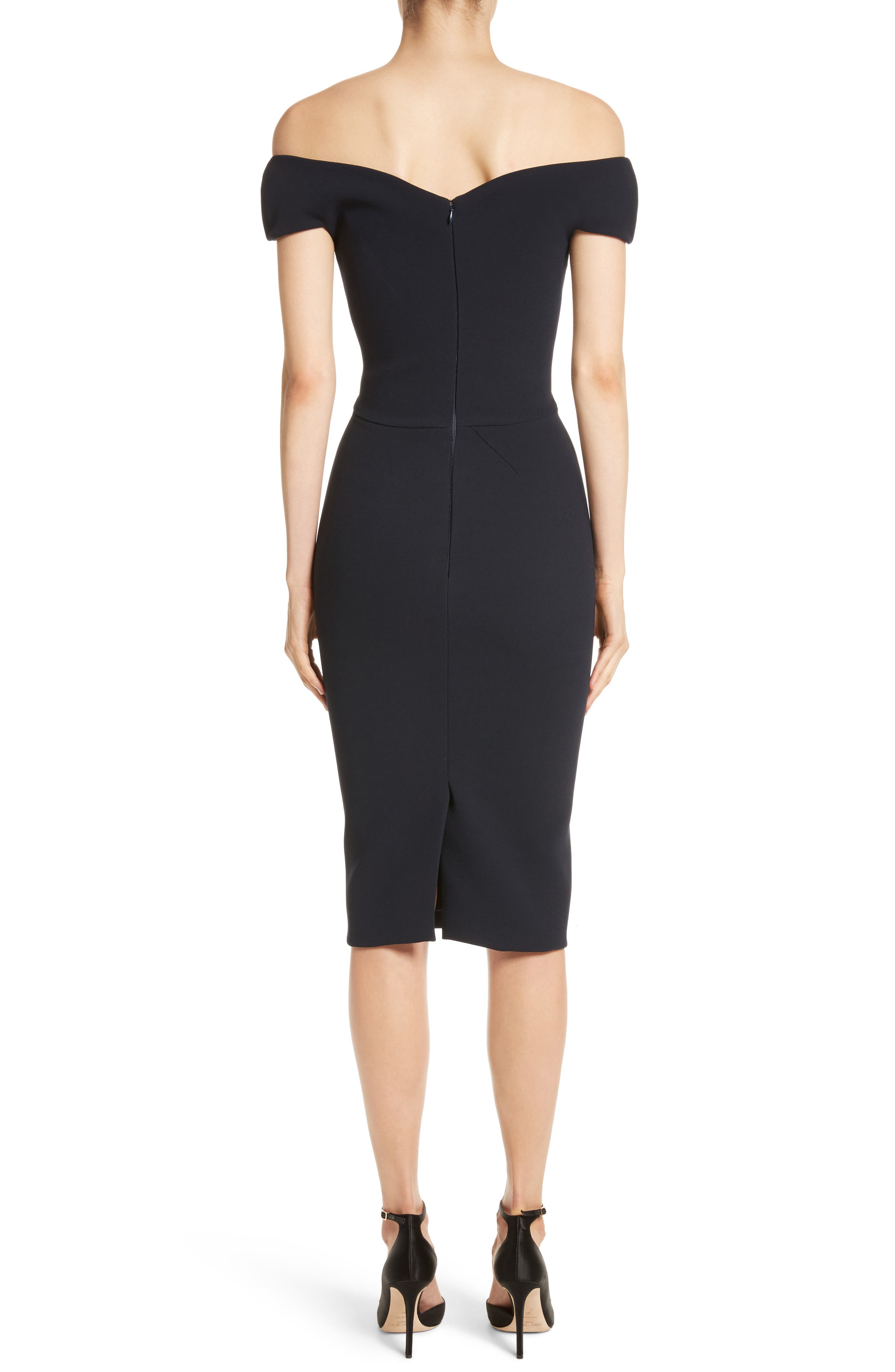 Alternate Image 2  - Zac Posen Off the Shoulder Sheath Dress