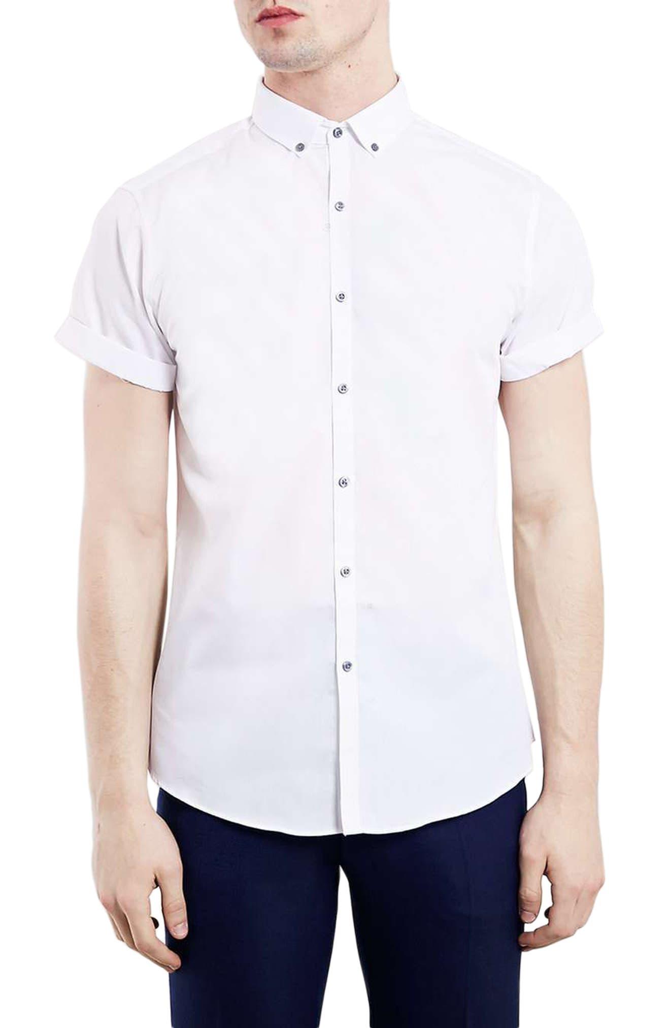 TOPMAN Short Sleeve Sport Shirt