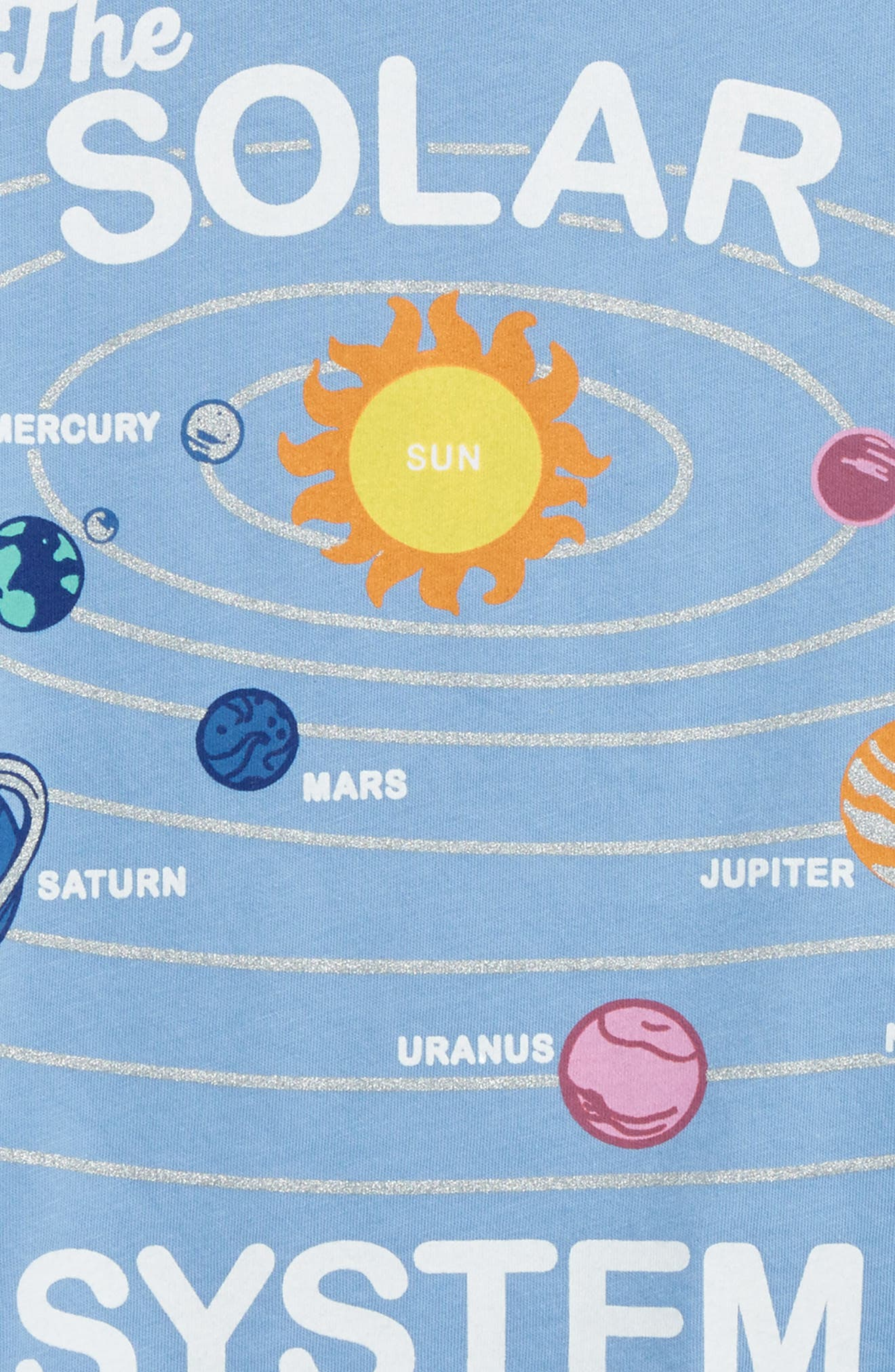 Alternate Image 3  - Peek Solar System Graphic Tee (Toddler Girls, Little Girls & Big Girls)